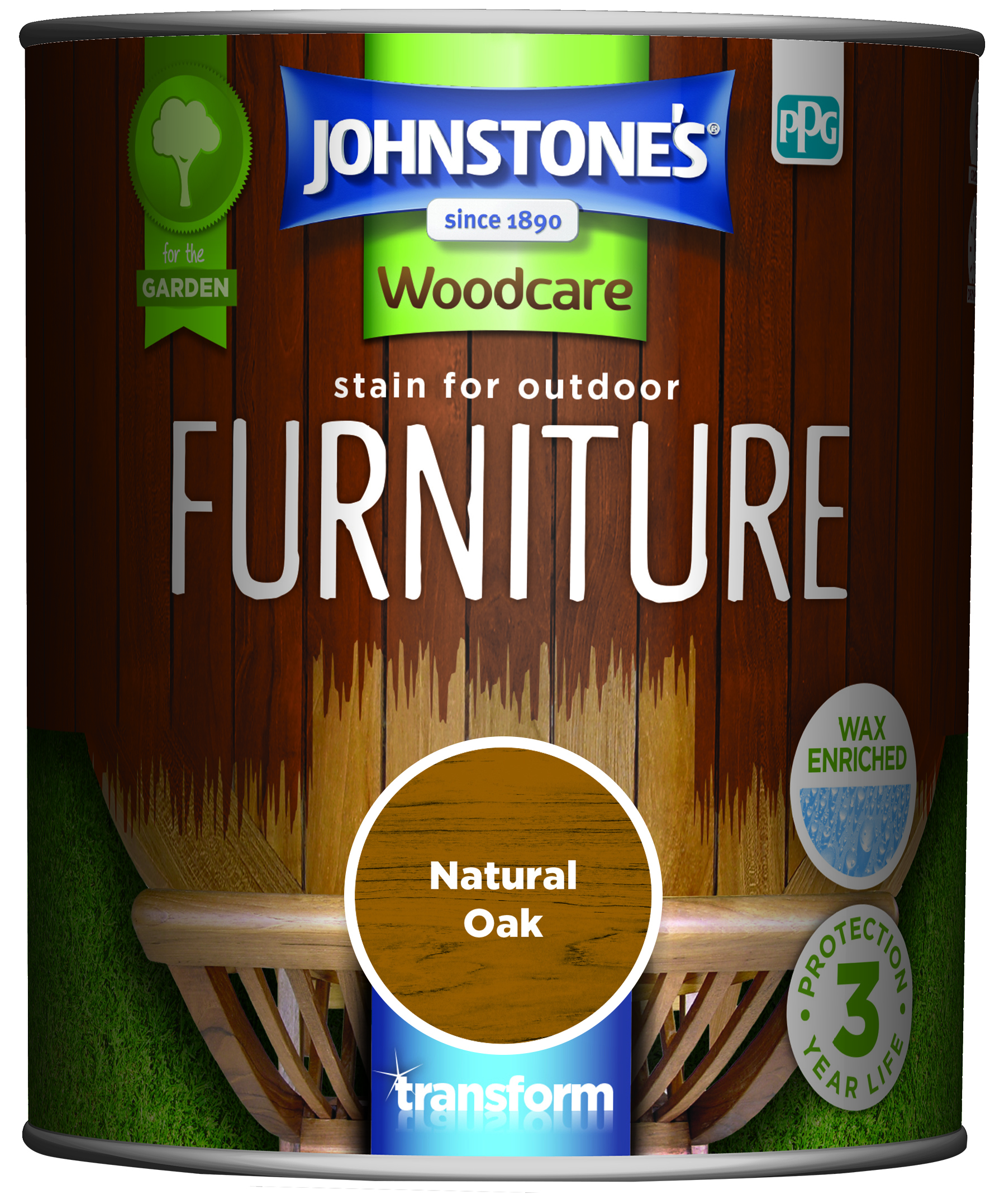 Johnstone's Stain For Outdoor Furniture natural Oak 750ml