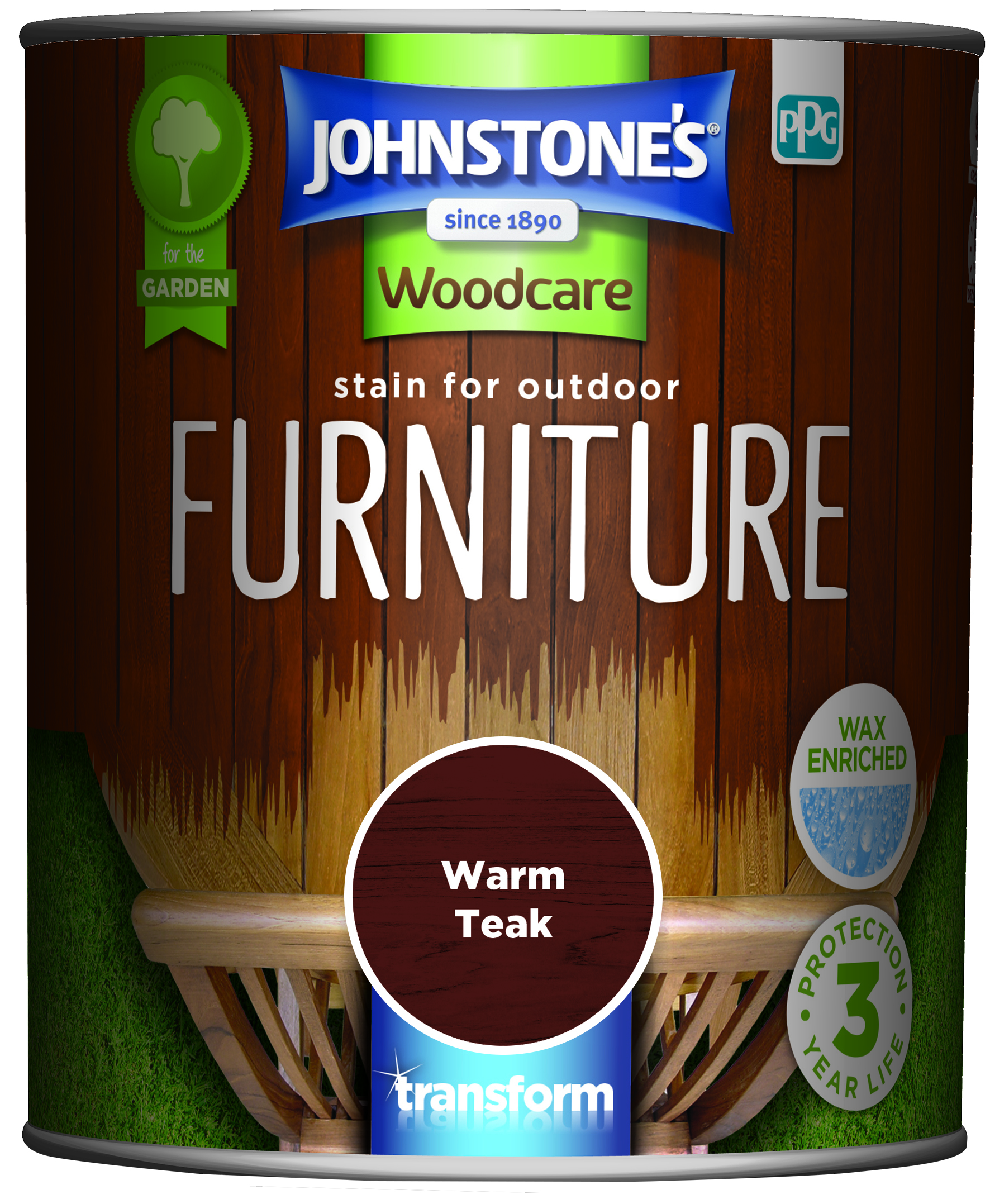 Johnstone's Stain For Outdoor Furniture warm Teak 750ml