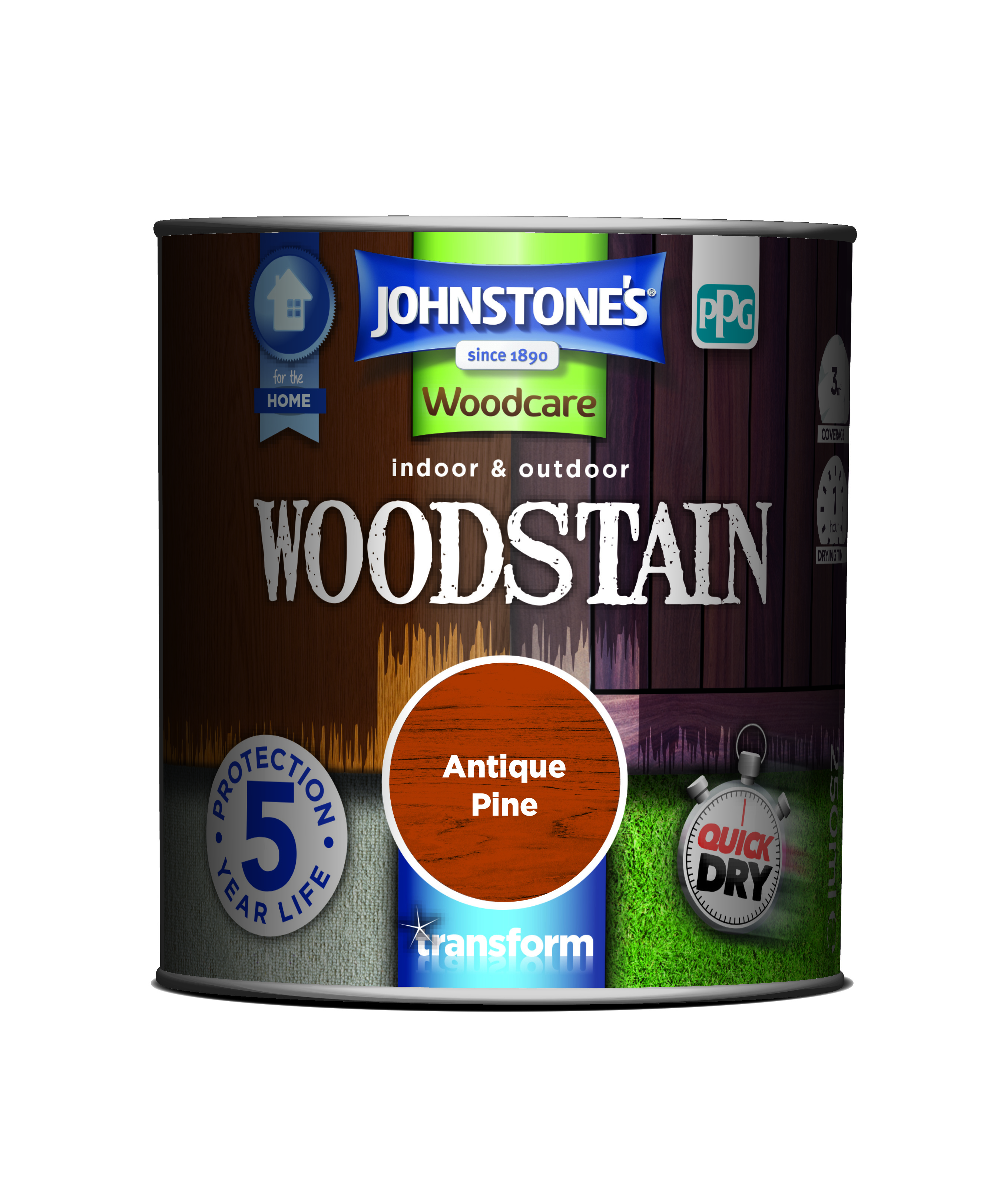 2.5ltr - Johnstone's Woodcare Woodstain Antique Pine