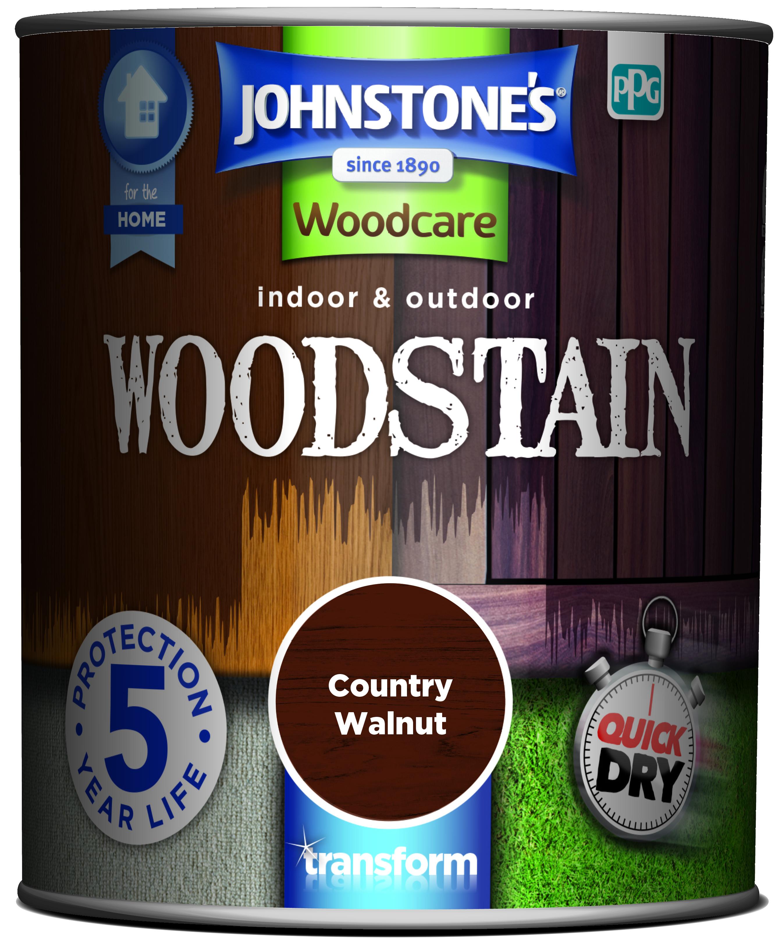 2.5ltr - Johnstone's Woodcare Woodstain Walnut