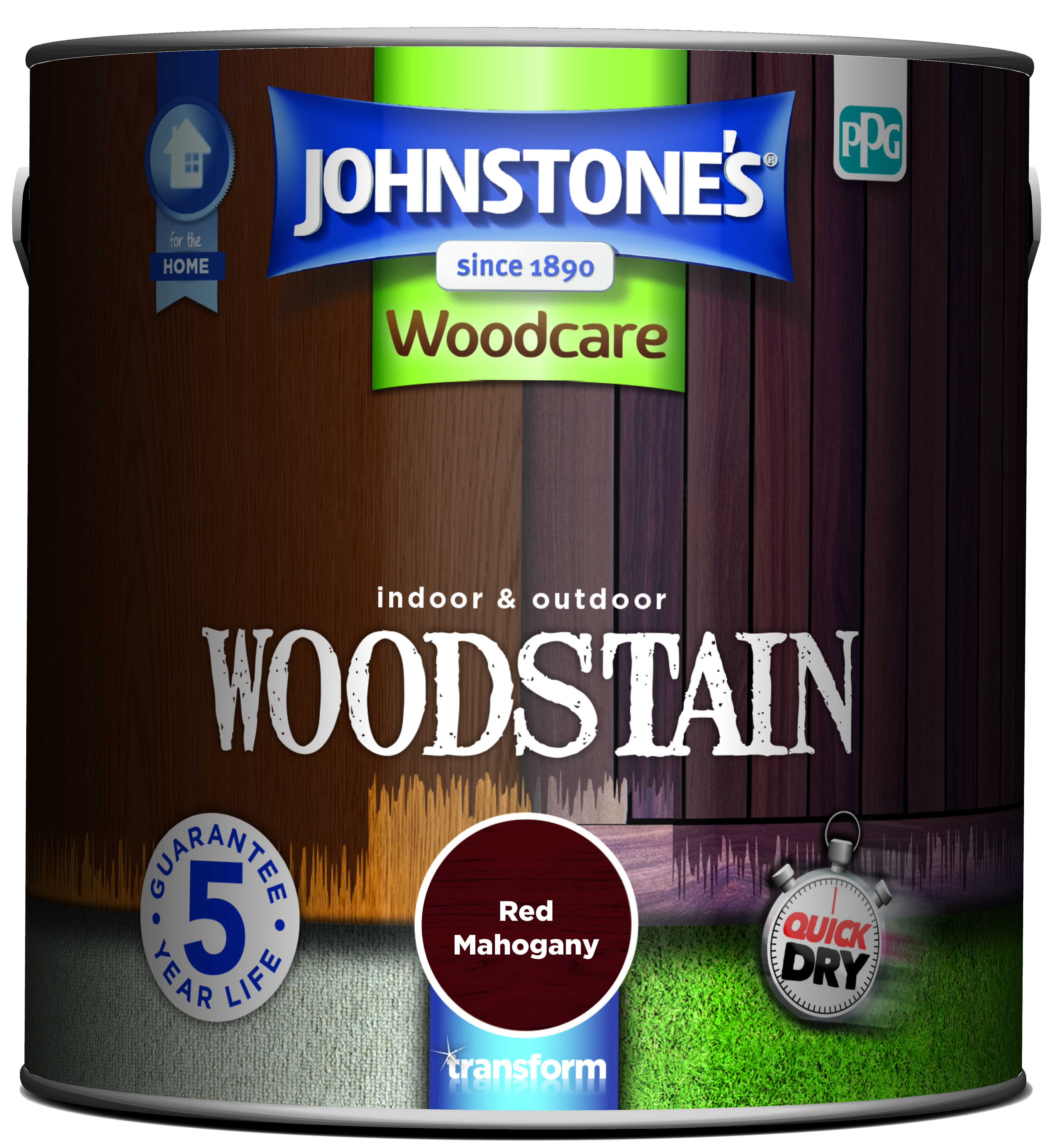 2.5ltr - Johnstone's Woodcare Woostain Mahogany