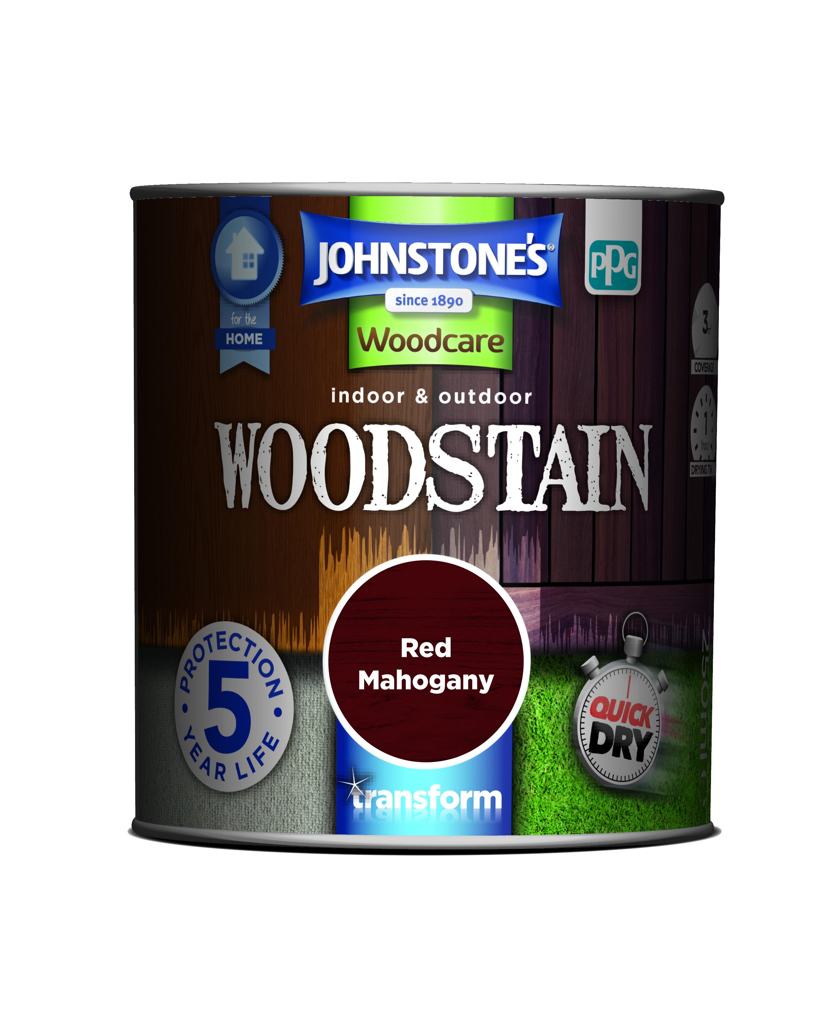 Johnstones Woodcare Quick Drying Interior/exterior Woodstain Mahogany 250ml