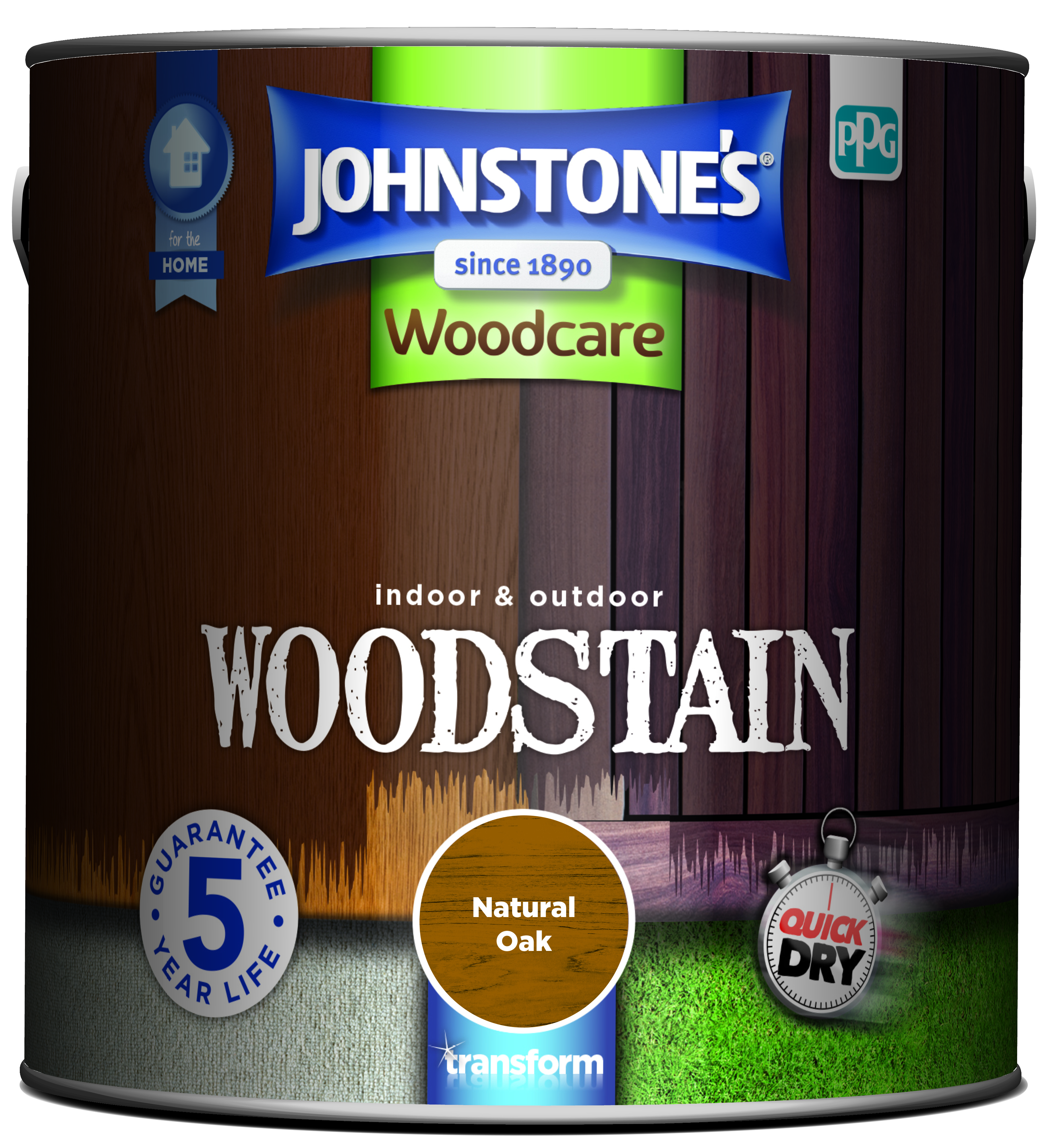 2.5ltr - Johnstone's Woodcare Woodstain Oak