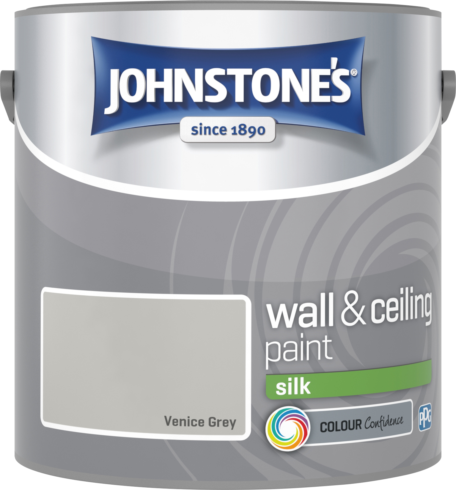 Johnstone's 2.5 Litre Silk Emulsion Paint - Venice Grey