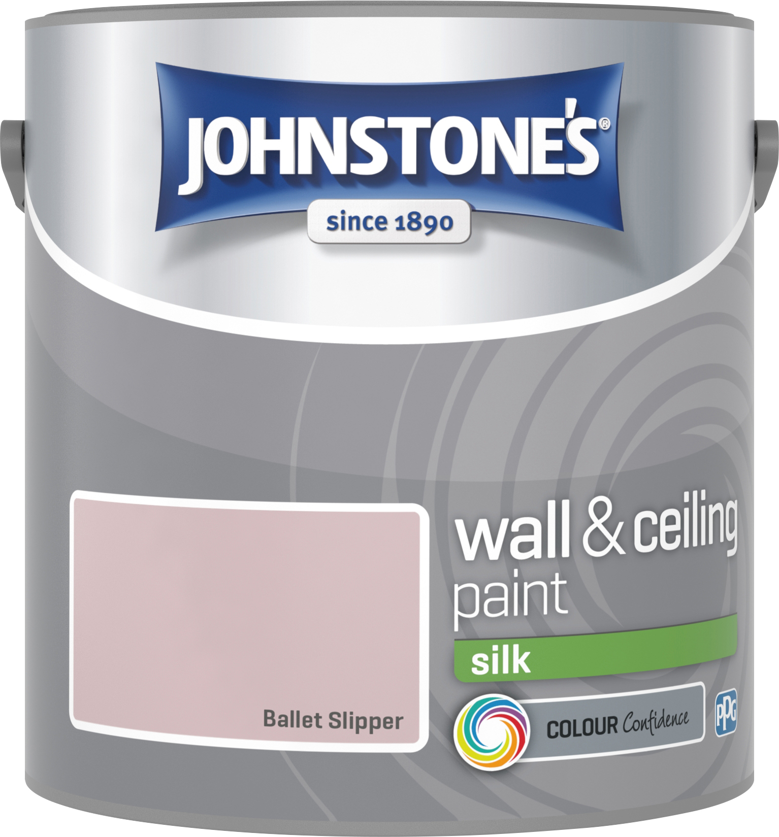 Johnstone's 2.5 Litre Silk Emulsion Paint - Ballet Slipper