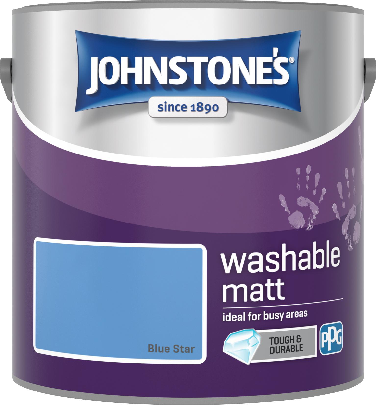Johnstone's 2.5 Litre Washable Matt Emulsion Paint -  Blue Star