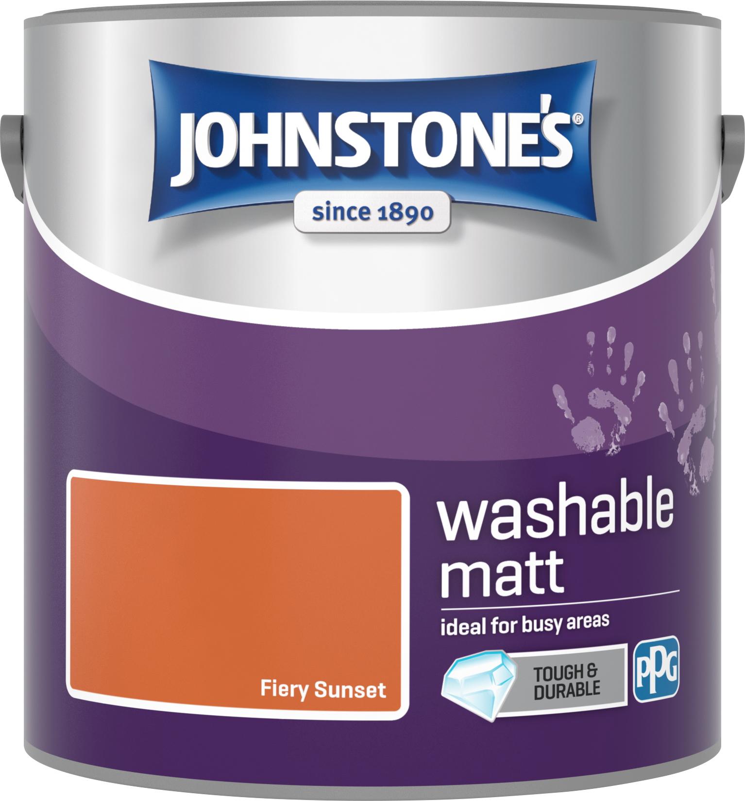 Johnstone's 2.5 Litre Washable Matt Emulsion Paint - Fiery Sunset