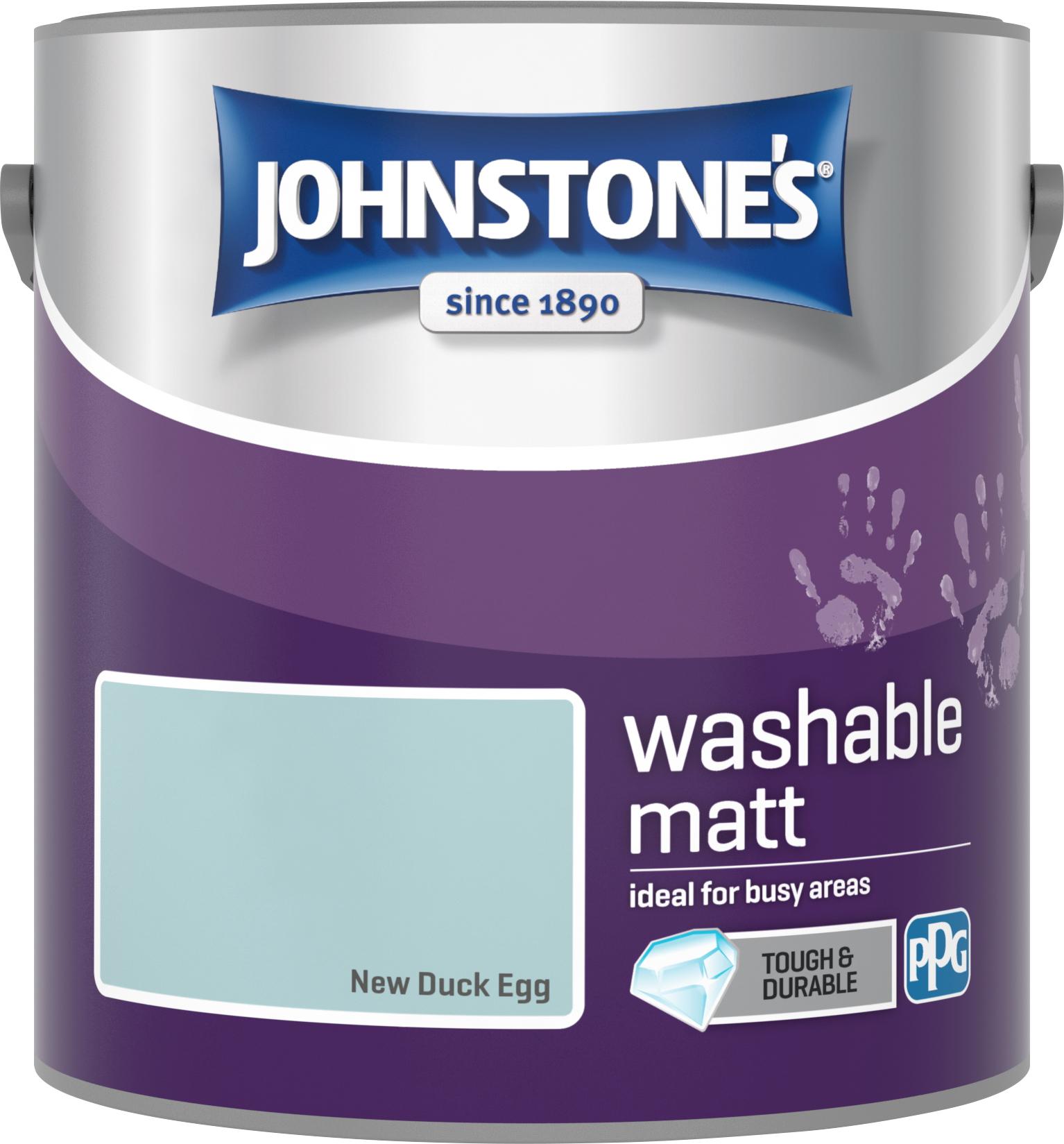 Johnstone's 2.5 Litre Washable Matt Emulsion Paint - New Duck Egg