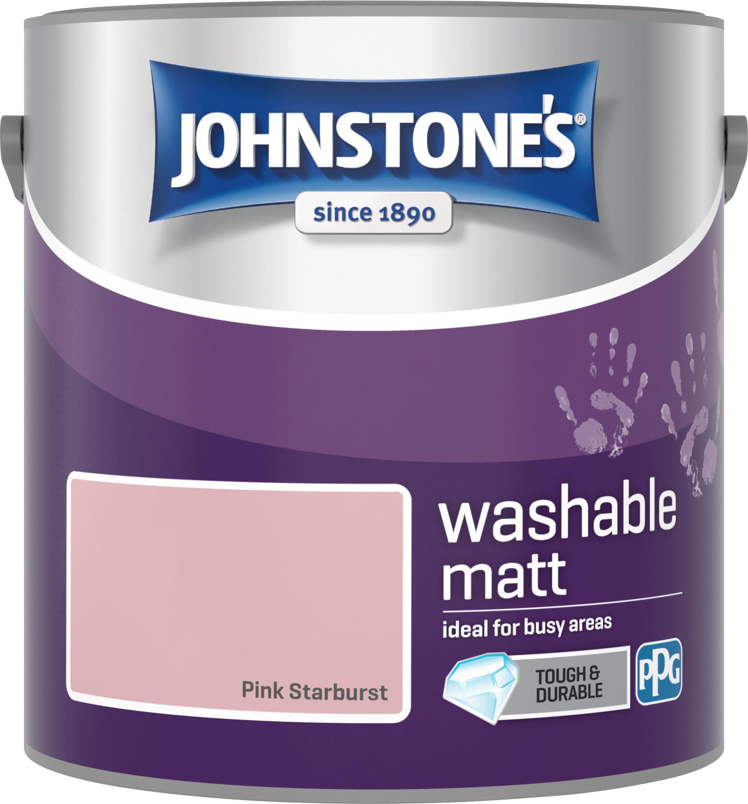 Johnstone's 2.5 Litre Washable Matt Emulsion Paint - Pink Starburst