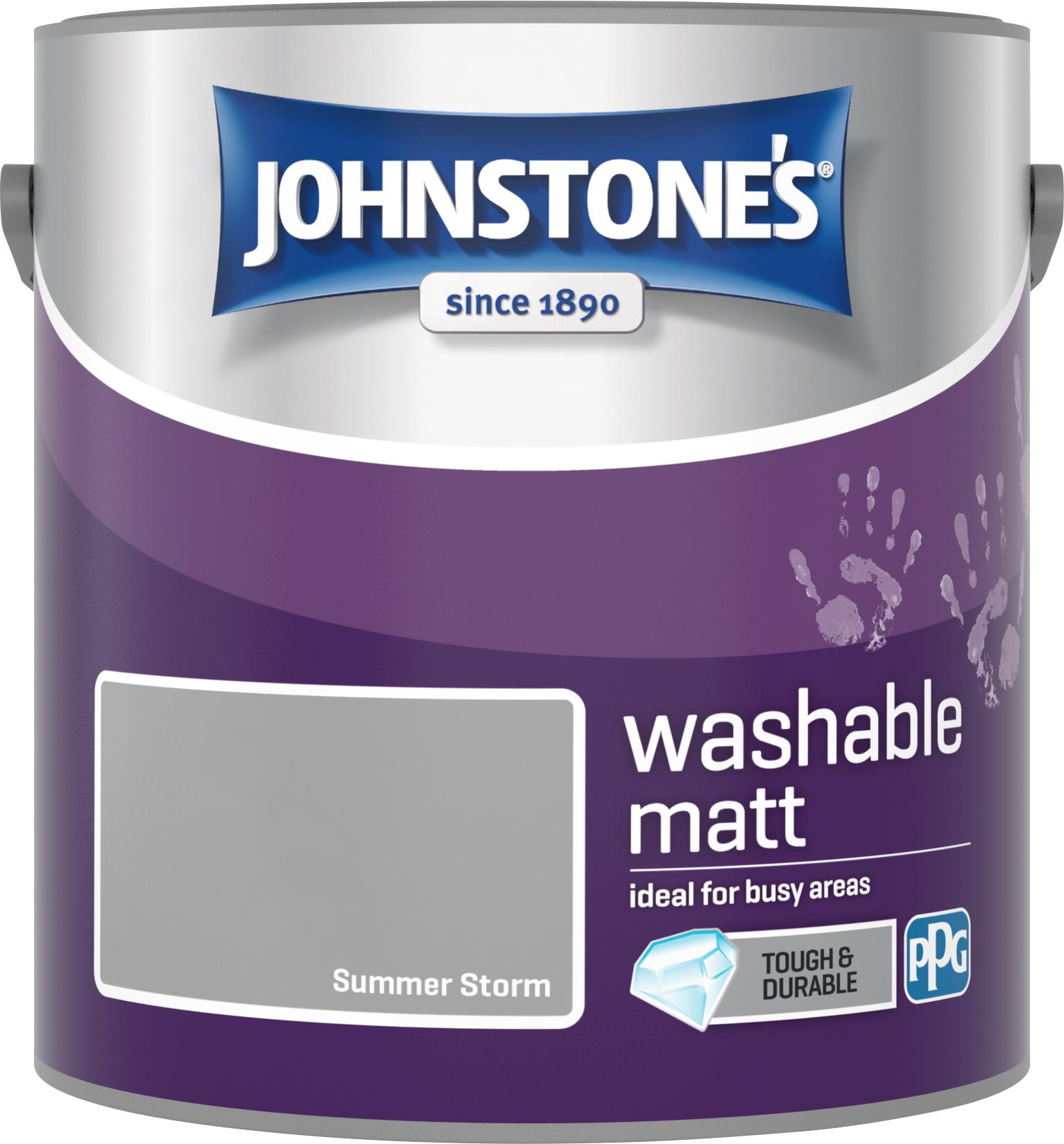 Johnstone's 2.5 Litre Washable Matt Emulsion Paint - Summer Storm