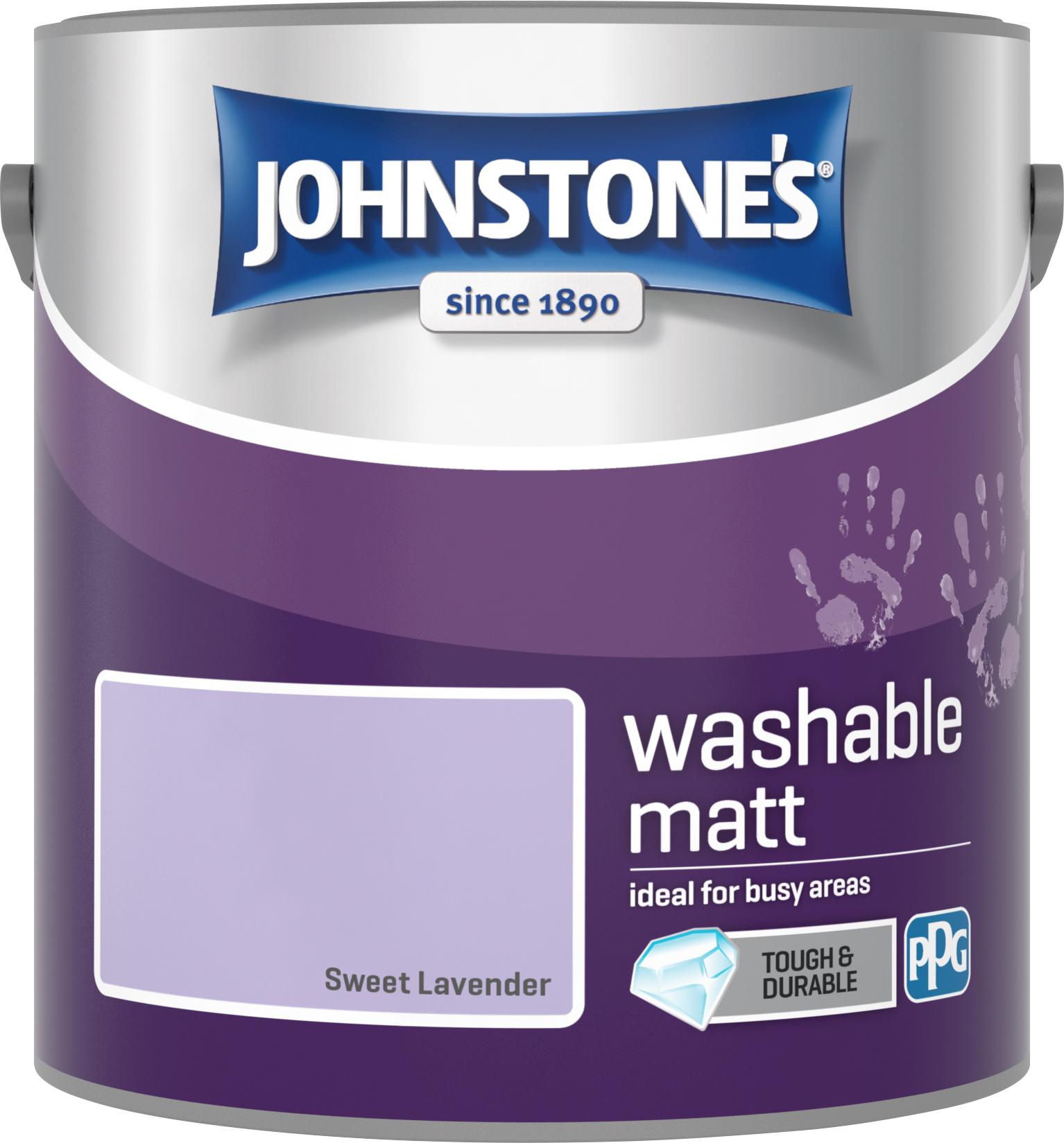 Johnstone's 2.5 Litre Washable Matt Emulsion Paint - Sweet Lavender