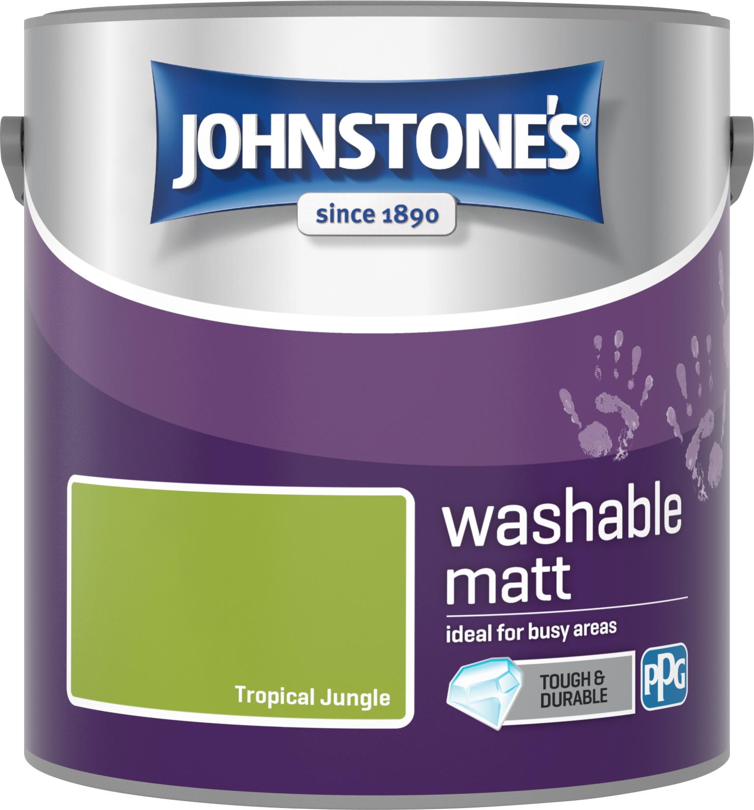 Johnstone's 2.5 Litre Washable Matt Emulsion Paint - Tropical Jungle