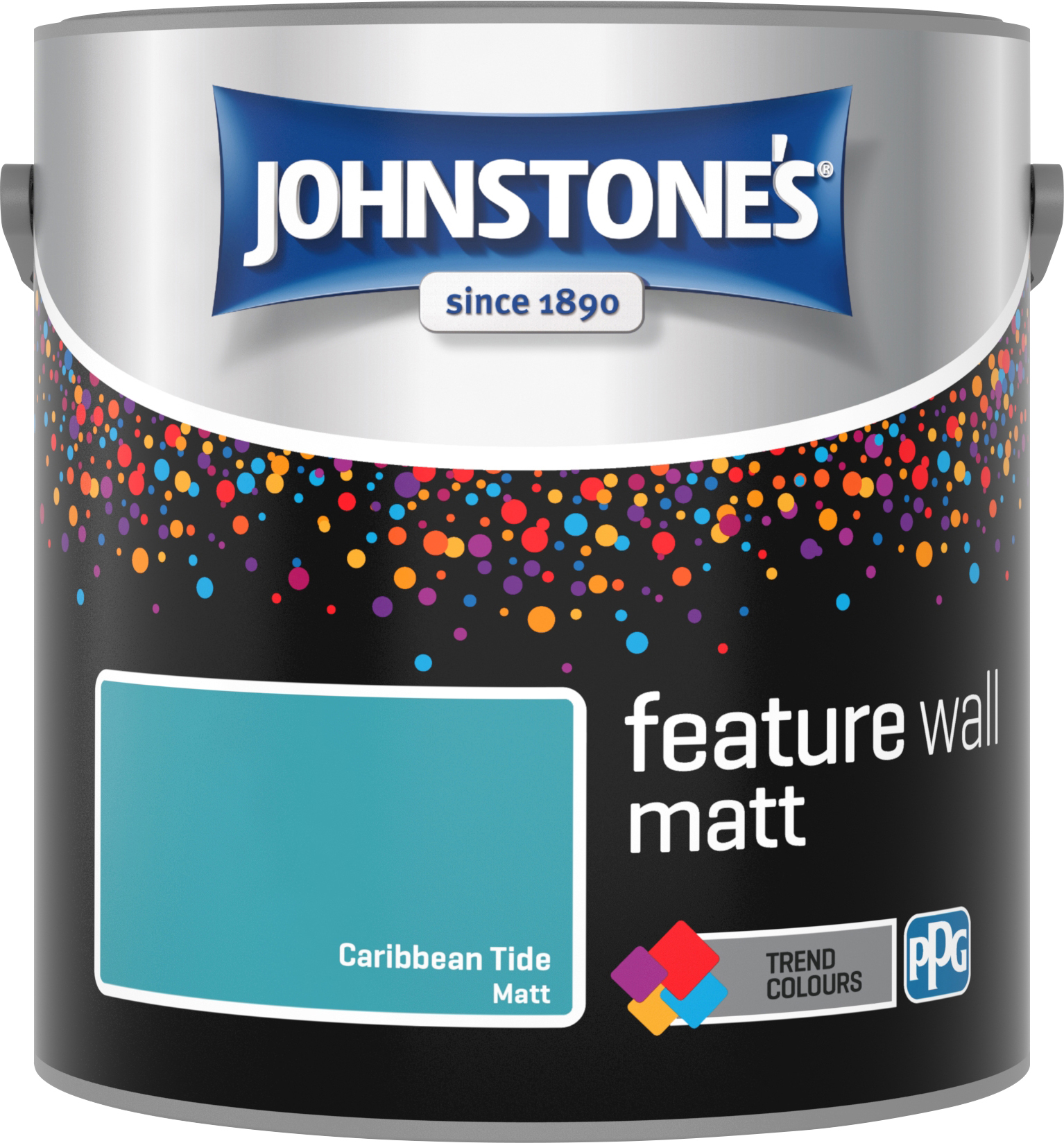 Johnstone's 2.5 Litre Feature Wall Matt Emulsion Paint - Caribbean Tide