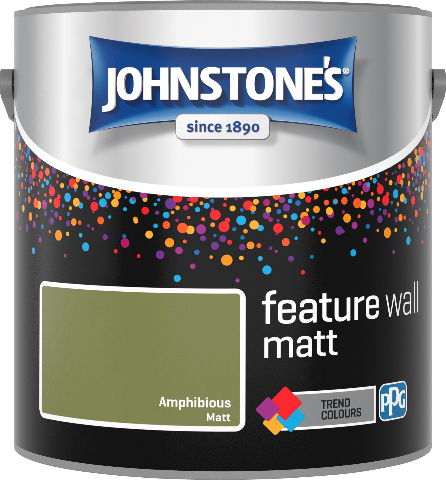 Johnstone's 2.5 Litre Feature Wall Matt Emulsion Paint - Amphibious