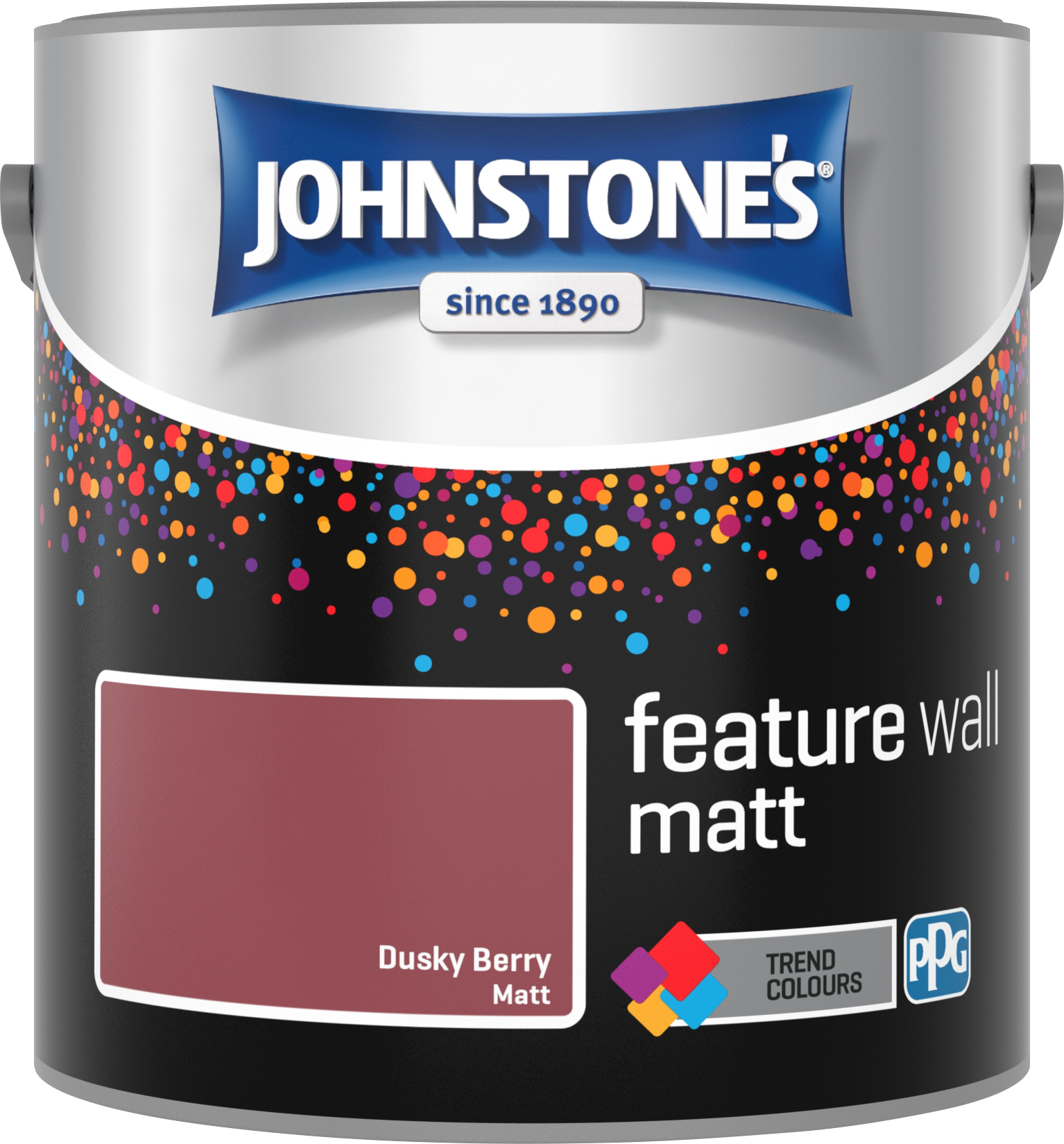 Johnstone's 2.5 Litre Feature Wall Matt Emulsion Paint - Dusk Berry