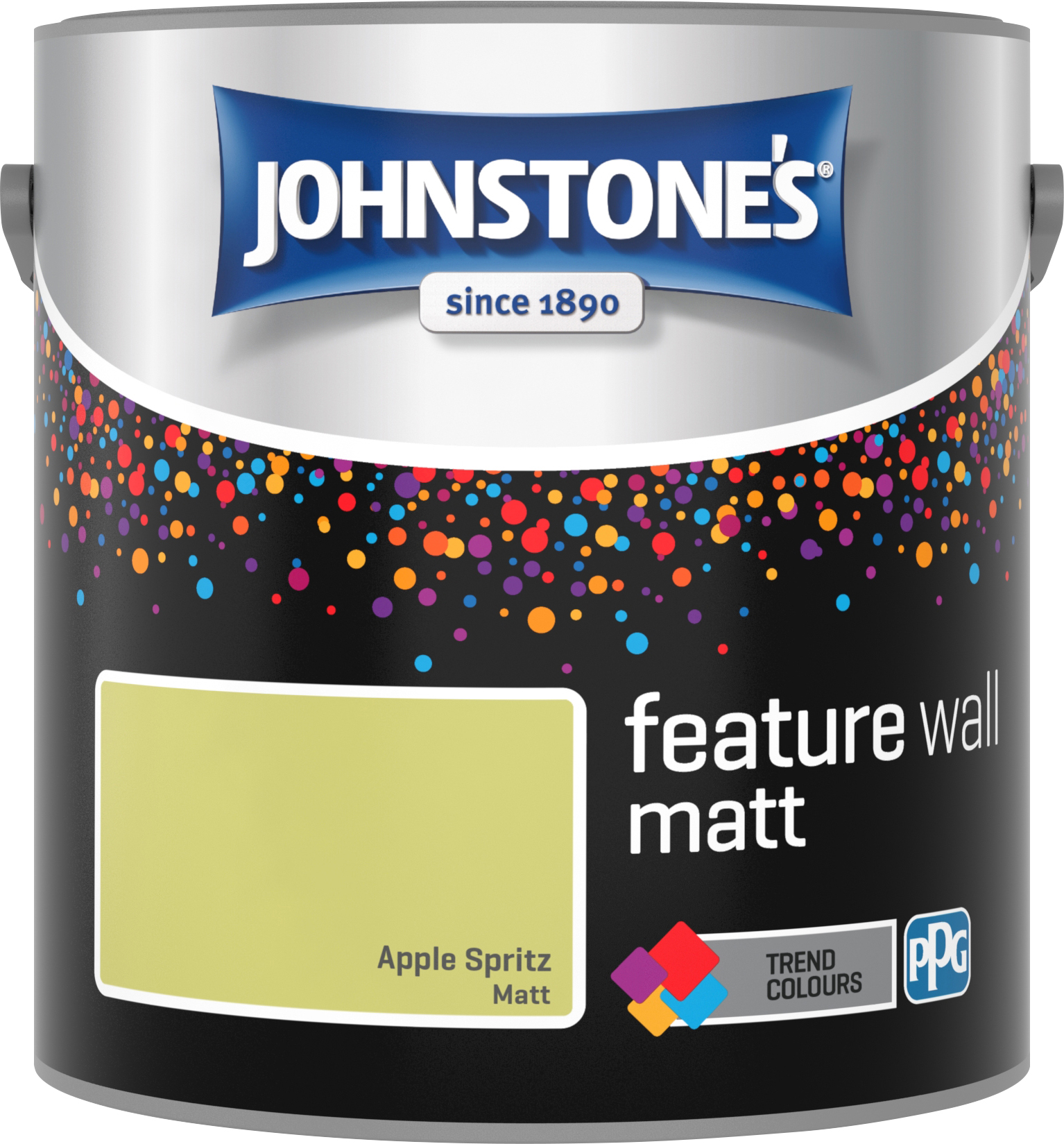 Johnstone's 2.5 Litre Feature Wall Matt Emulsion Paint - Apple Spritz