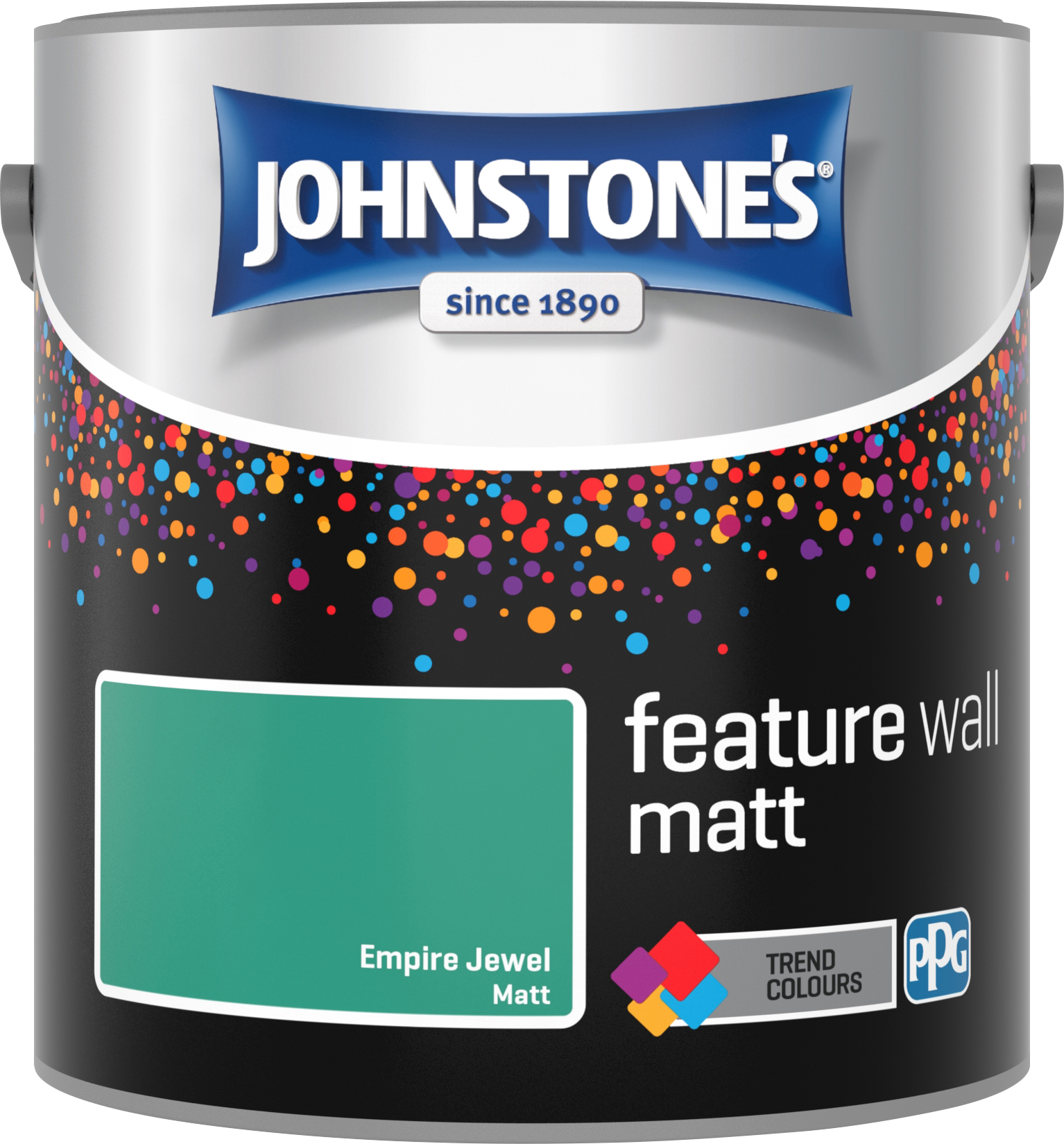 Johnstone's 2.5 Litre Feature Wall Matt Emulsion Paint - Empire Jewel