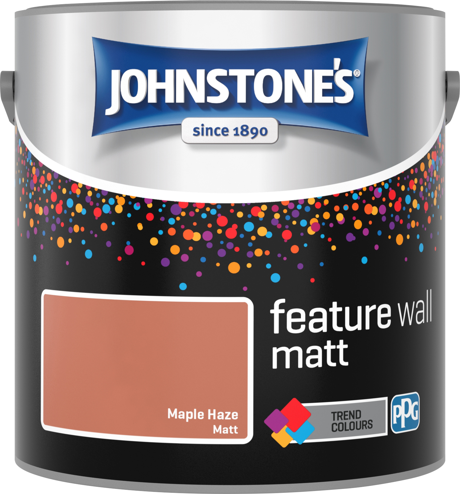 Johnstone's 2.5 Litre Feature Wall Matt Emulsion Paint - Maple Haze