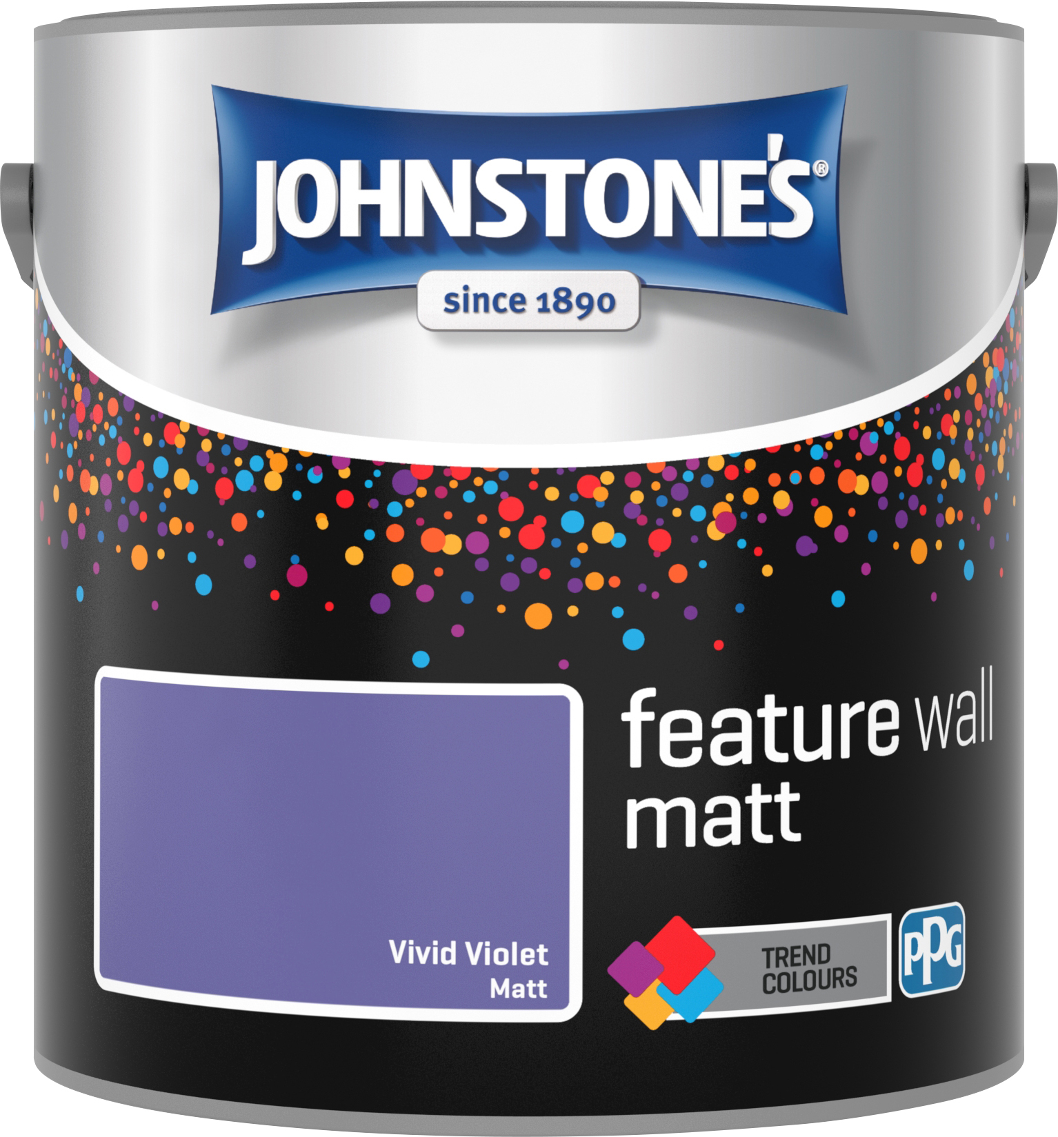 Johnstone's 2.5 Litre Feature Wall Matt Emulsion Paint - Vivid Violet