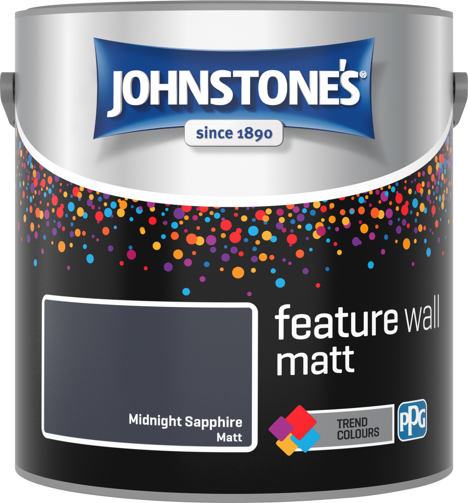 Johnstone's 2.5 Litre Feature Wall Matt Emulsion Paint - Midnight Sapphire
