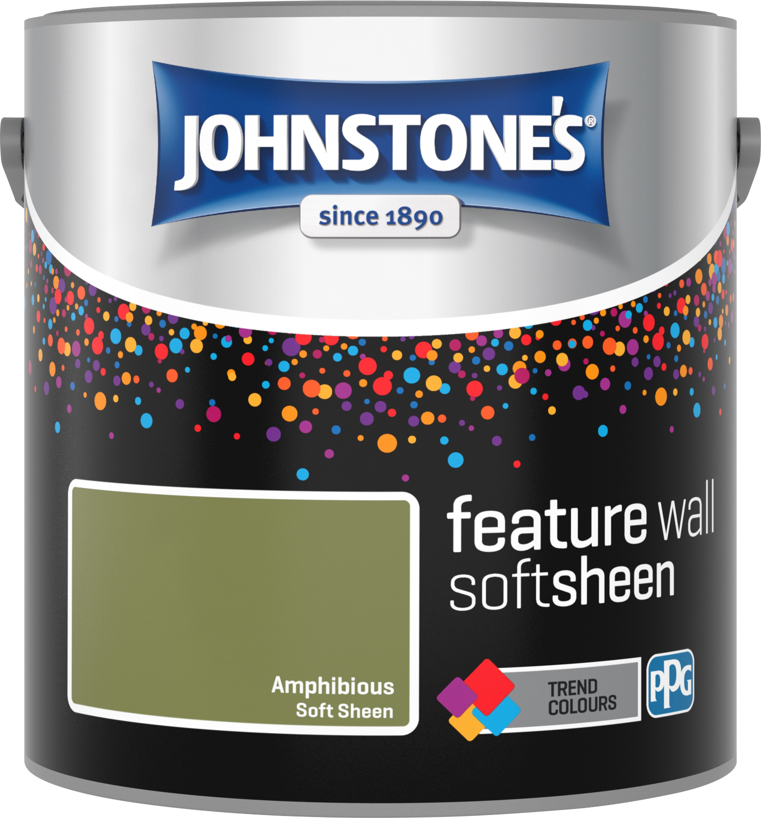 Johnstone's 2.5 Litre Feature Wall Soft Sheen Emulsion Paint - Amphibious