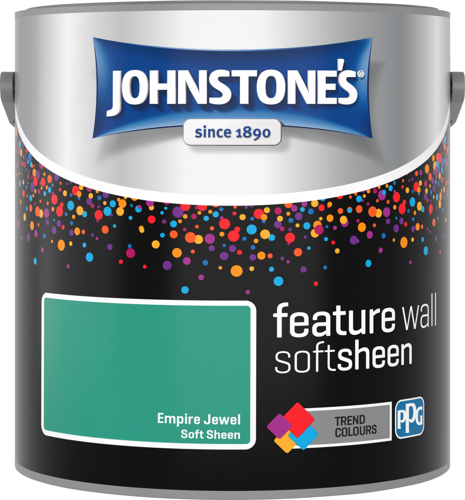 Johnstone's 2.5 Litre Feature Wall Soft Sheen Emulsion Paint - Empire Jewel