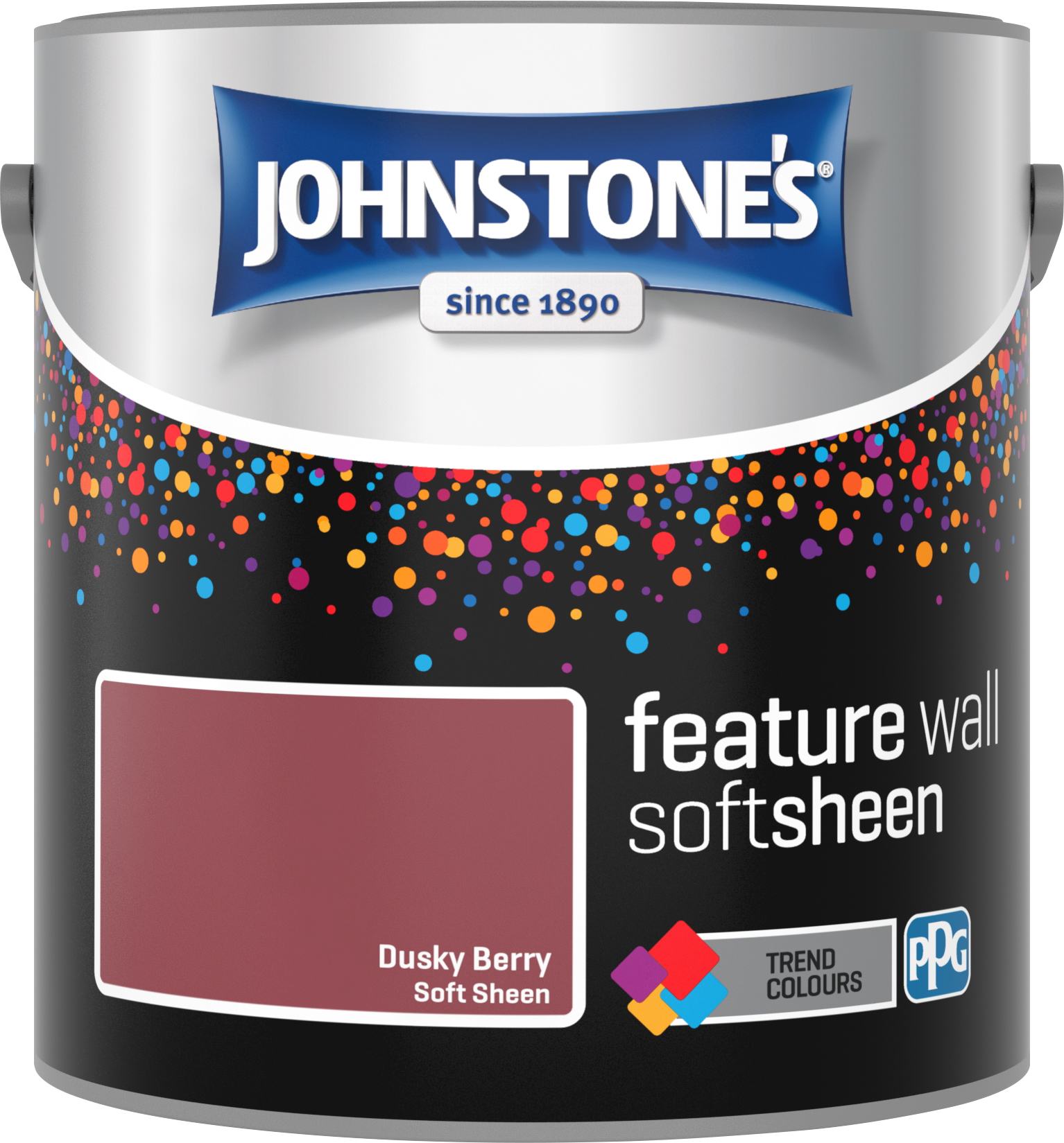 Johnstone's 2.5 Litre Feature Wall Soft Sheen Emulsion Paint - Dusky Berry