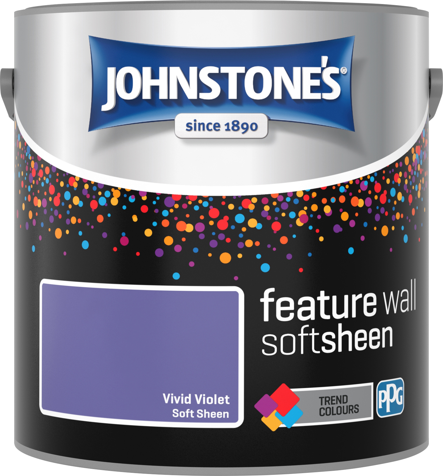 Johnstone's 2.5 Litre Feature Wall Soft Sheen Emulsion Paint - Vivid Violet