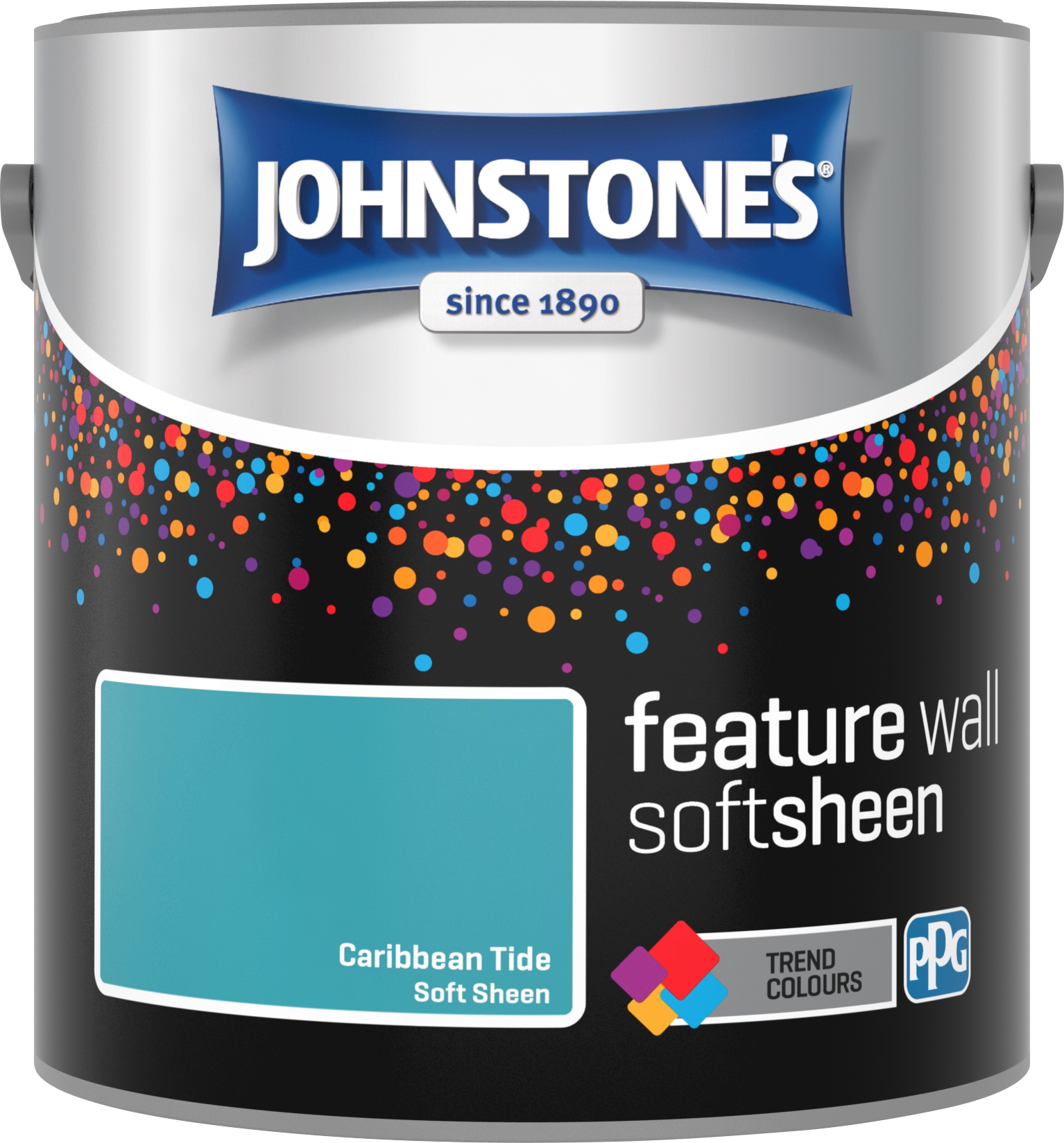 Johnstone's 2.5 Litre Feature Wall Soft Sheen Emulsion Paint - Caribbean Tide