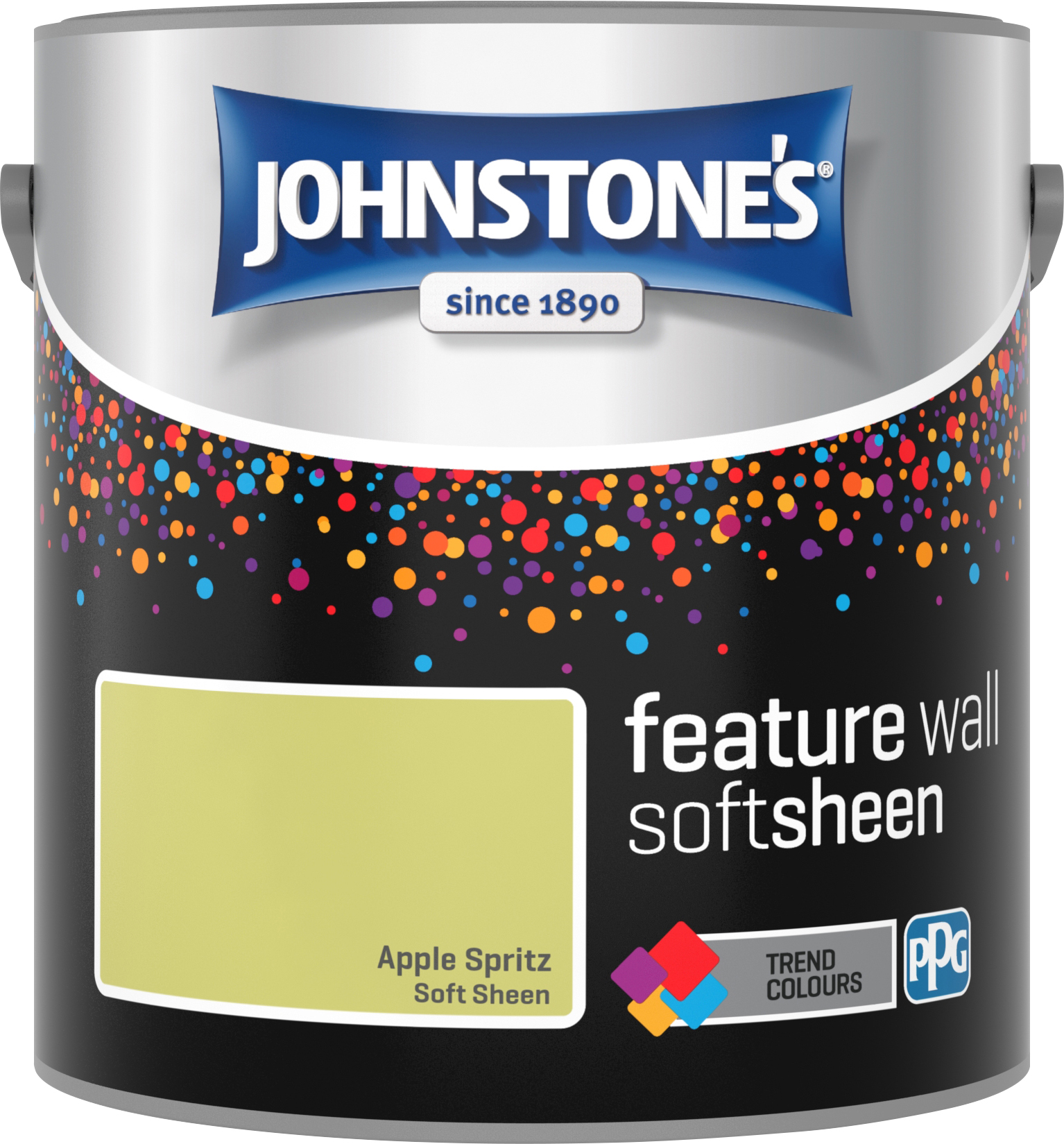 Johnstone's 2.5 Litre Feature Wall Soft Sheen Emulsion Paint - Apple Spritz