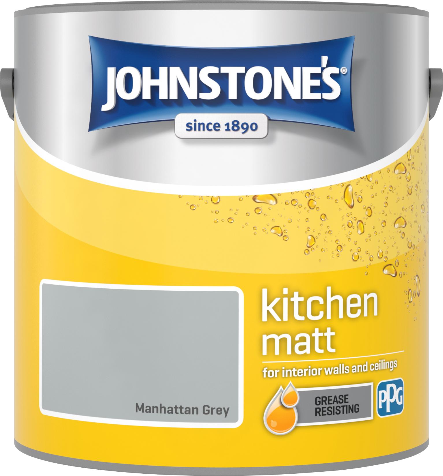 Johnstone's 2.5 Litre Kitchen Paint - Manhattan Grey