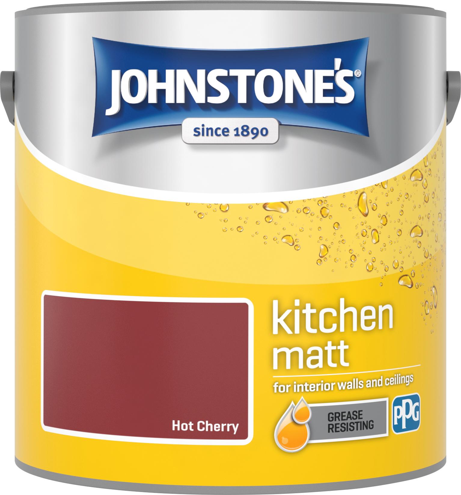 Johnstone's 2.5 Litre Kitchen Paint - Hot Cherry