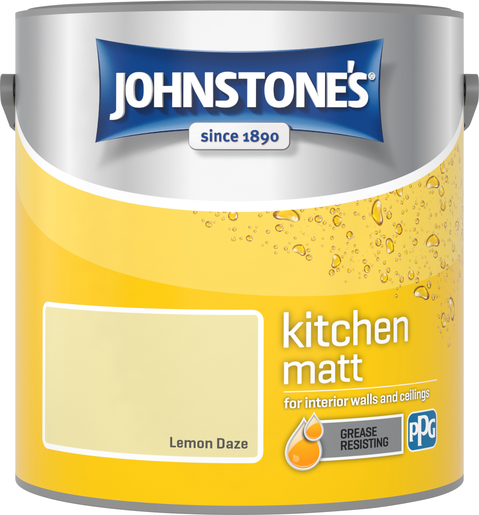 Johnstone's 2.5 Litre Kitchen Paint - Lemon Daze