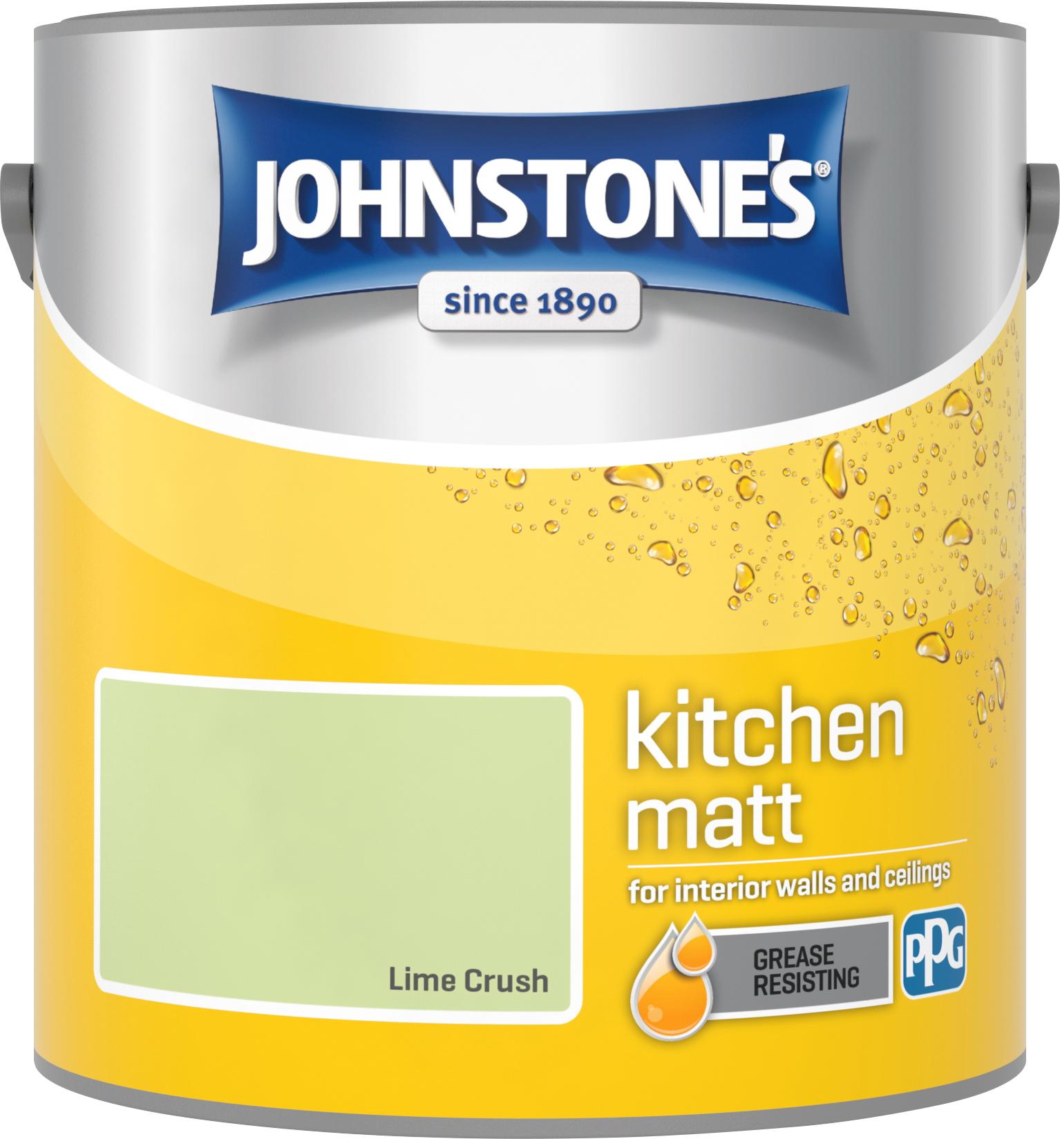 Johnstone's 2.5 Litre Kitchen Paint - Lime Crush