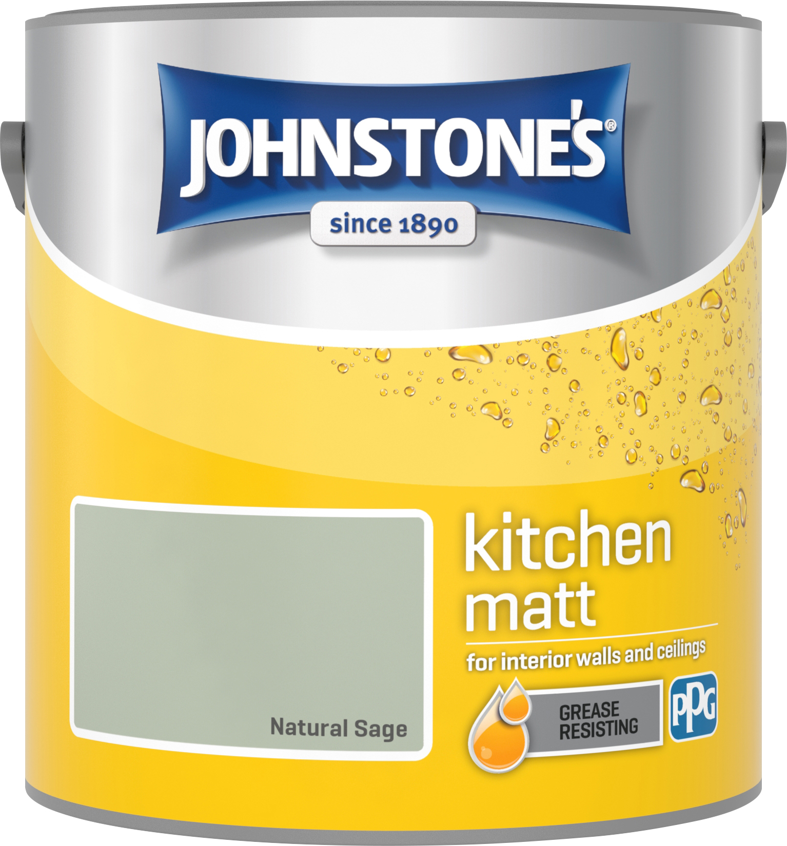 Johnstone's 2.5 Litre Kitchen Paint - Natural Sage