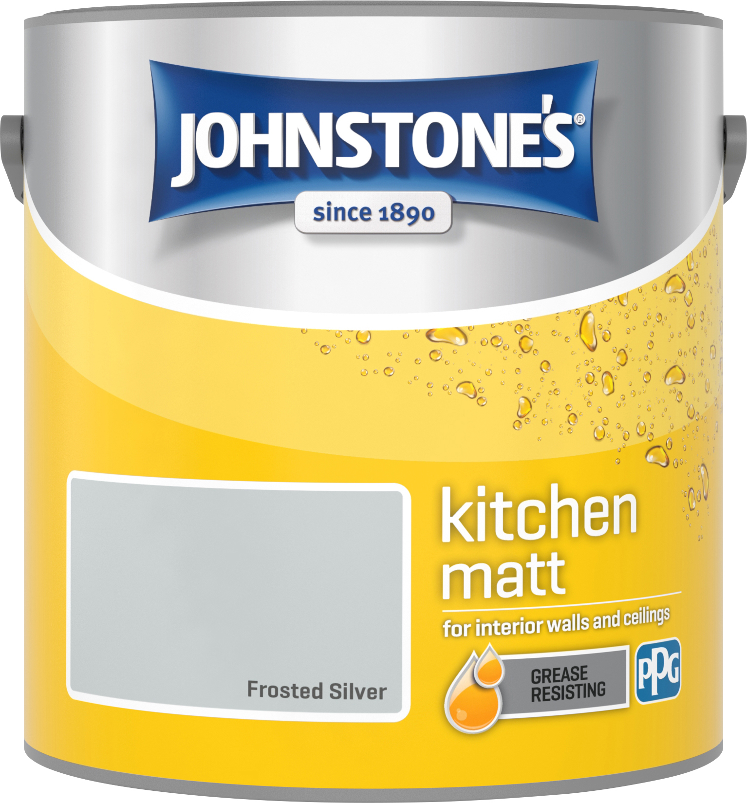 Johnstone's 2.5 Litre Kitchen Paint - Frosted Silver