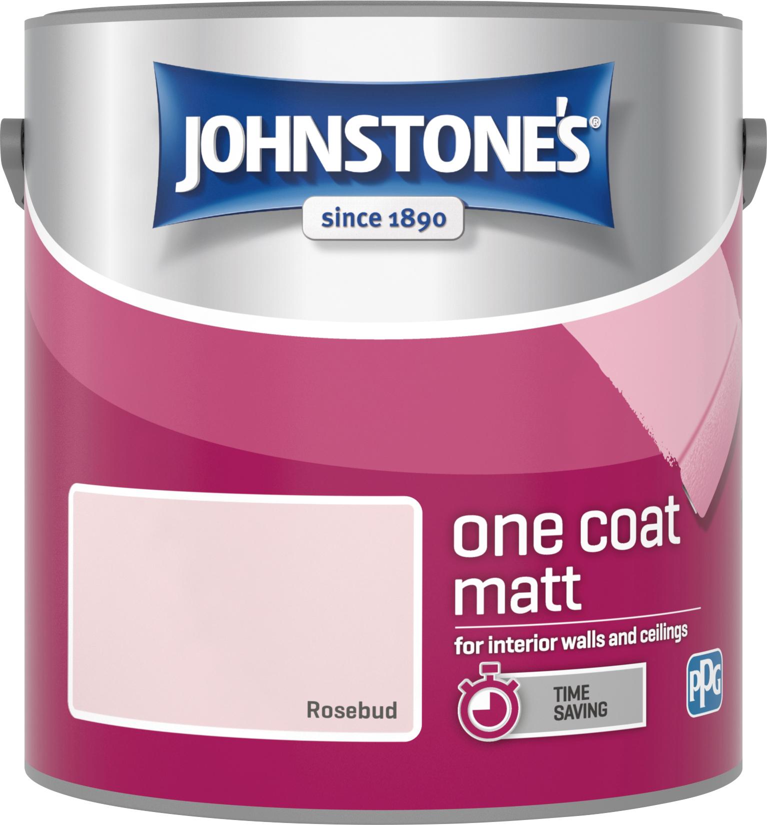 Johnstone's 2.5 Litre One Coat Matt - Rosebud