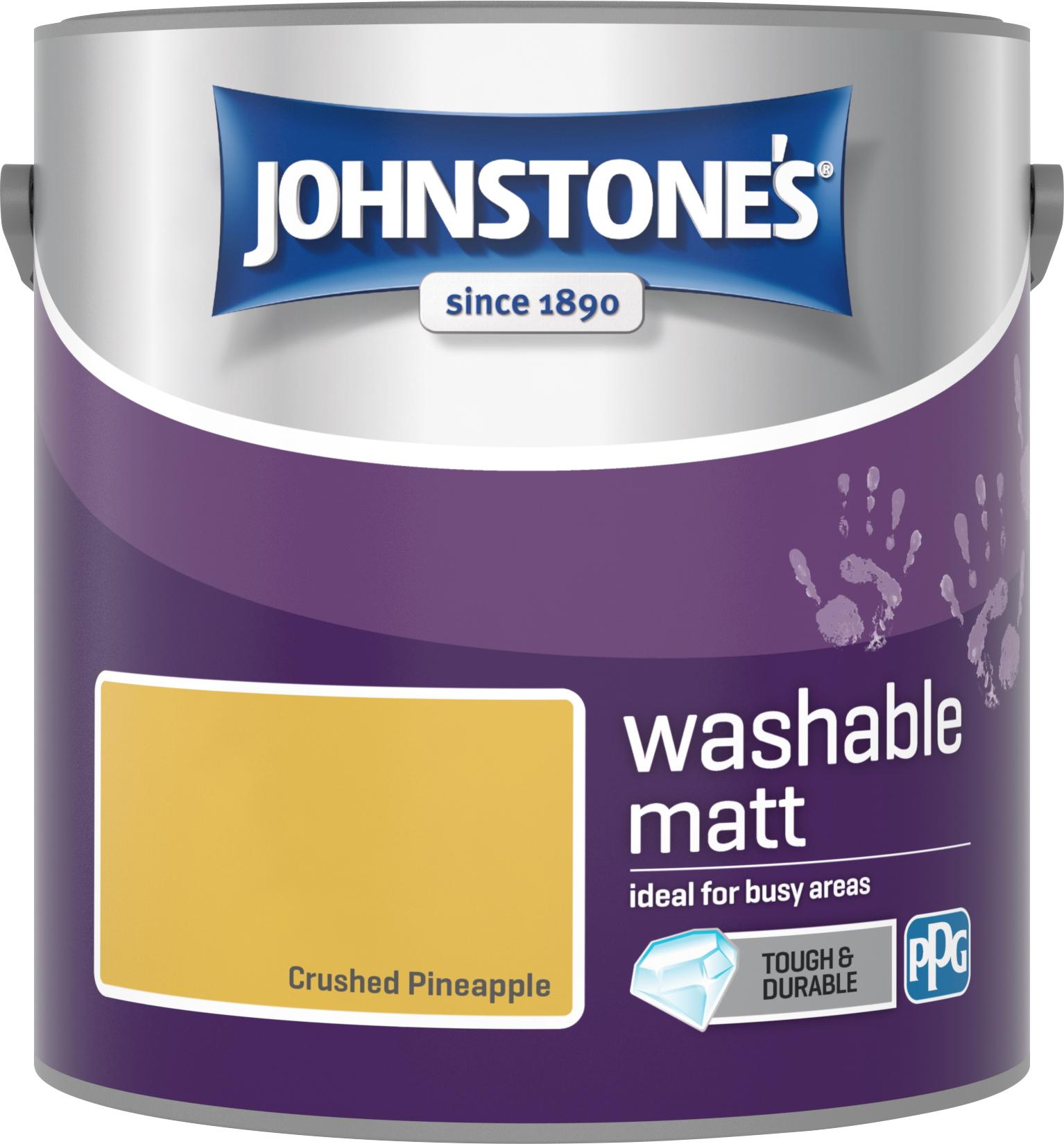 Johnstone's 2.5 Litre Washable Matt Emulsion Paint - Crushed Pineapple
