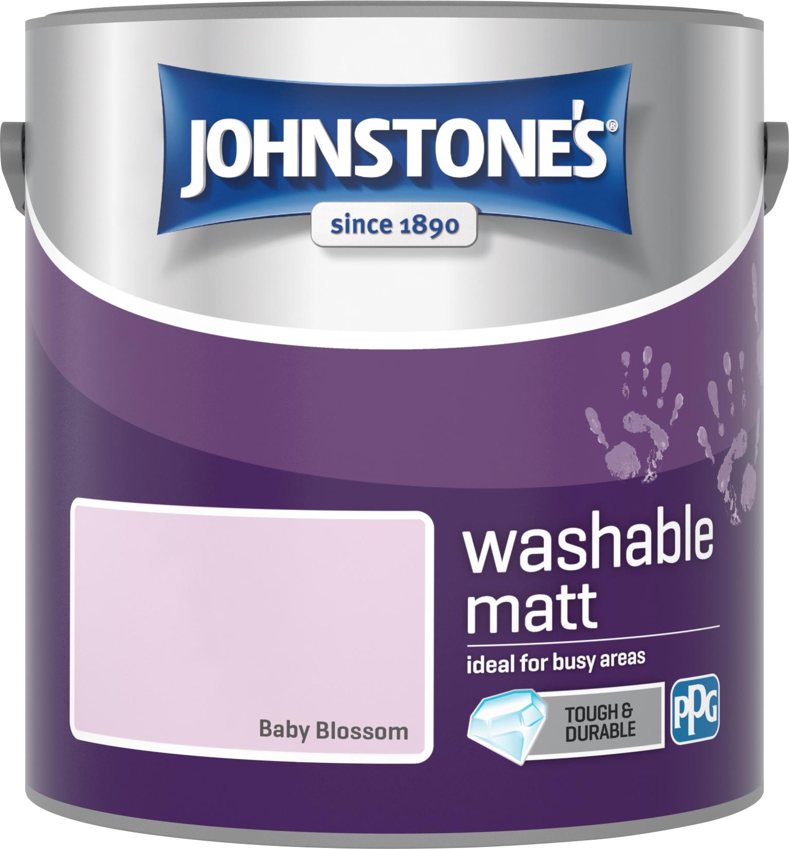 Johnstone's 2.5 Litre Washable Matt Emulsion Paint -  Baby Blossom