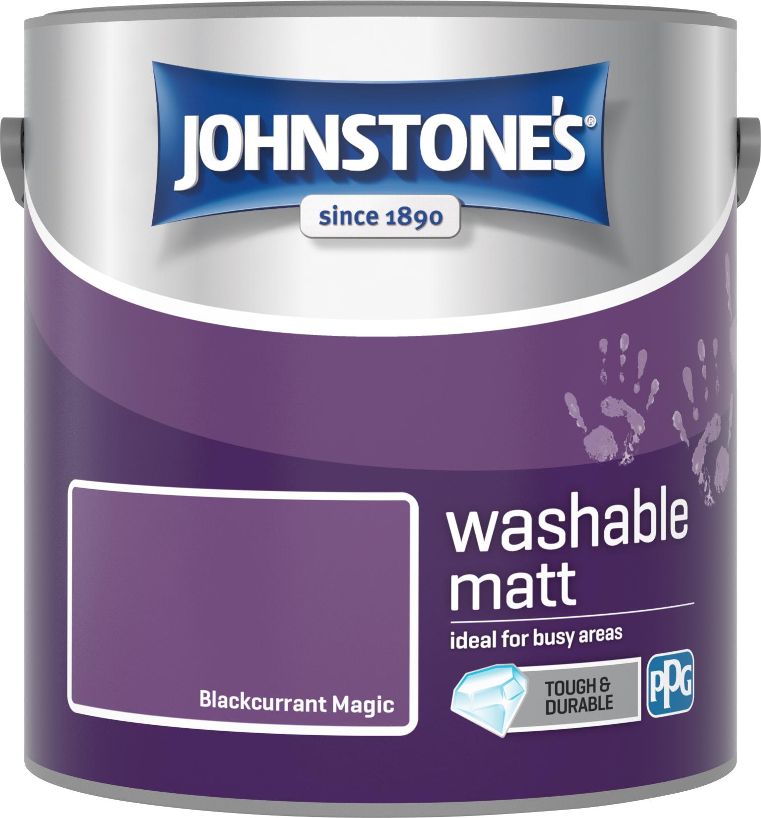 Johnstone's 2.5 Litre Washable Matt Emulsion Paint -  Blackcurrant Magic