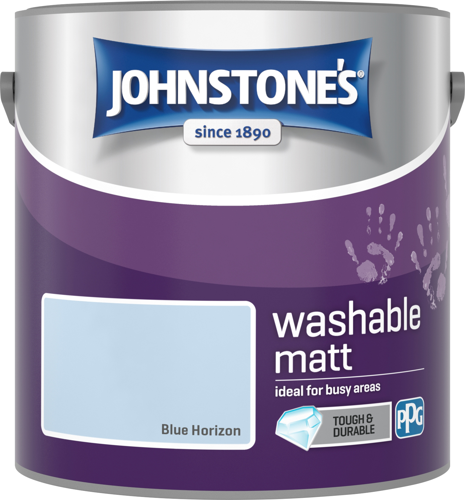 Johnstone's 2.5 Litre Washable Matt Emulsion Paint -  Blue Horizon