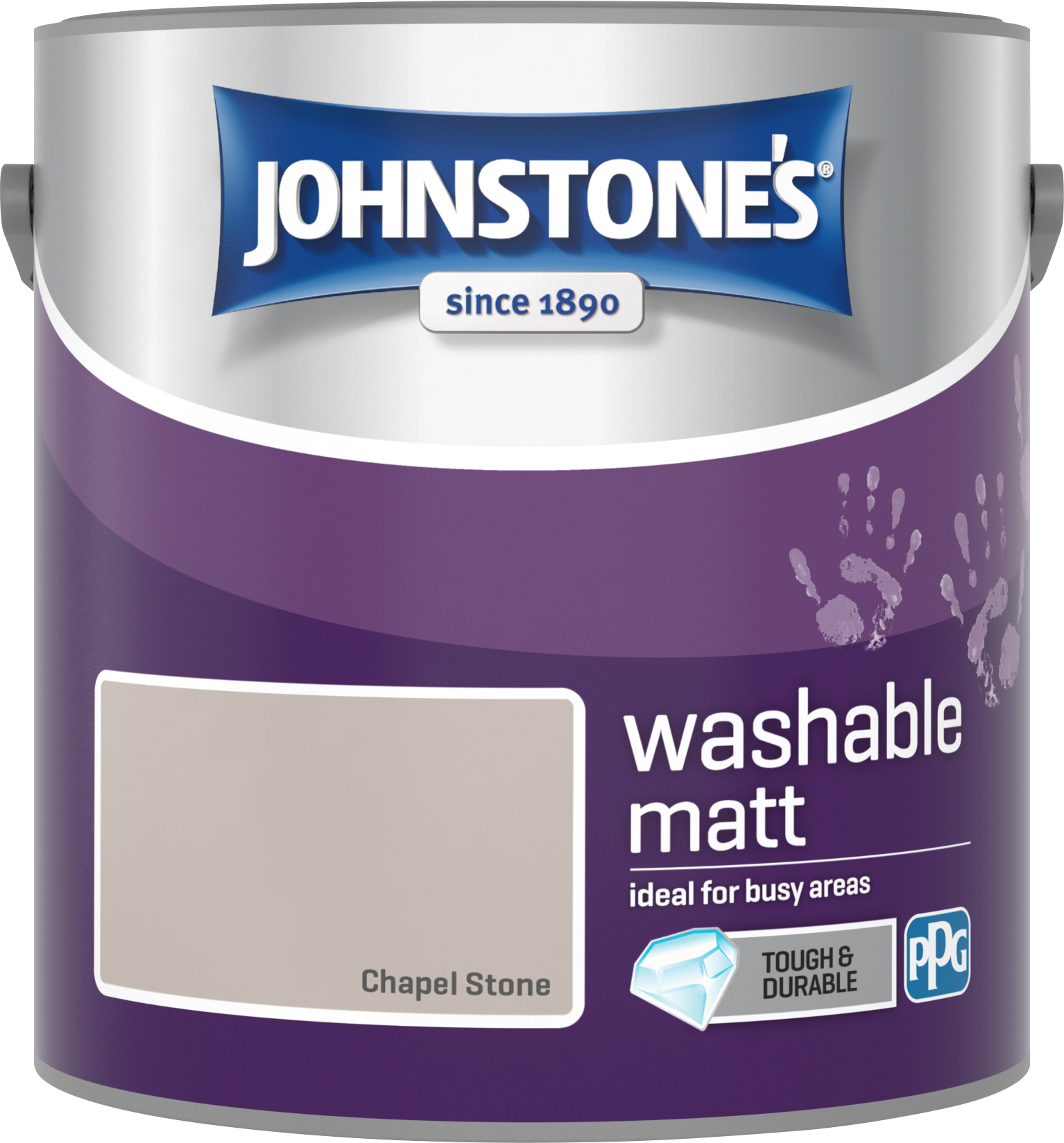 Johnstone's 2.5 Litre Washable Matt Emulsion Paint - Chaple Stone