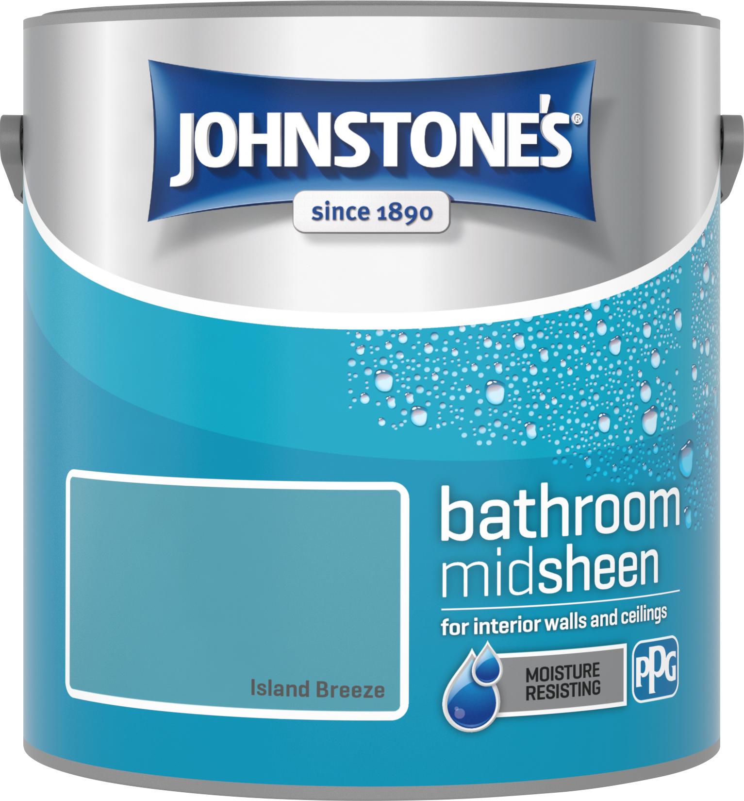 Johnstone's 2.5 Litre Bathroom Paint - Island Breeze
