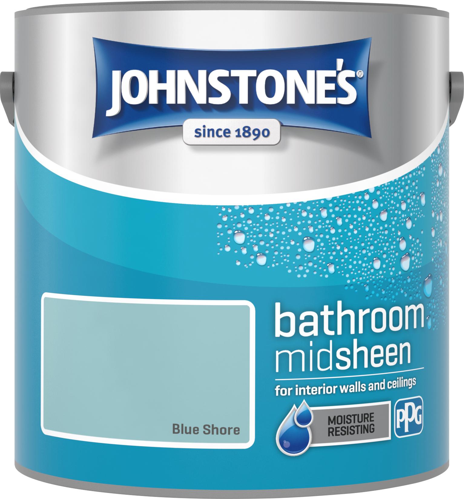 Johnstone's 2.5 Litre Bathroom Paint - Blue Shore