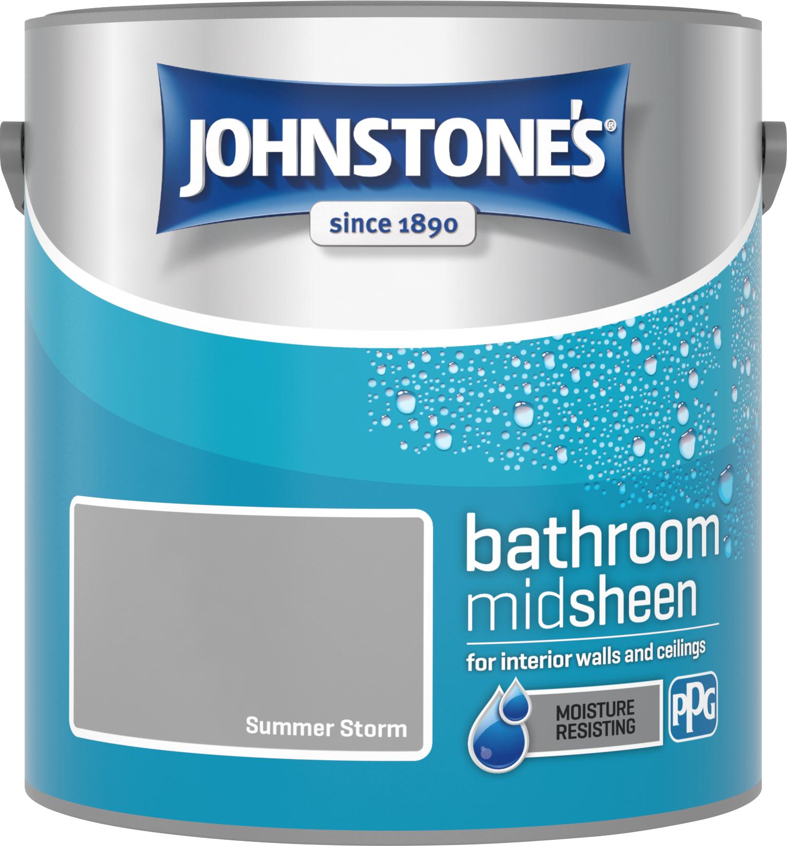 Johnstone's 2.5 Litre Bathroom Paint - Summer Storm