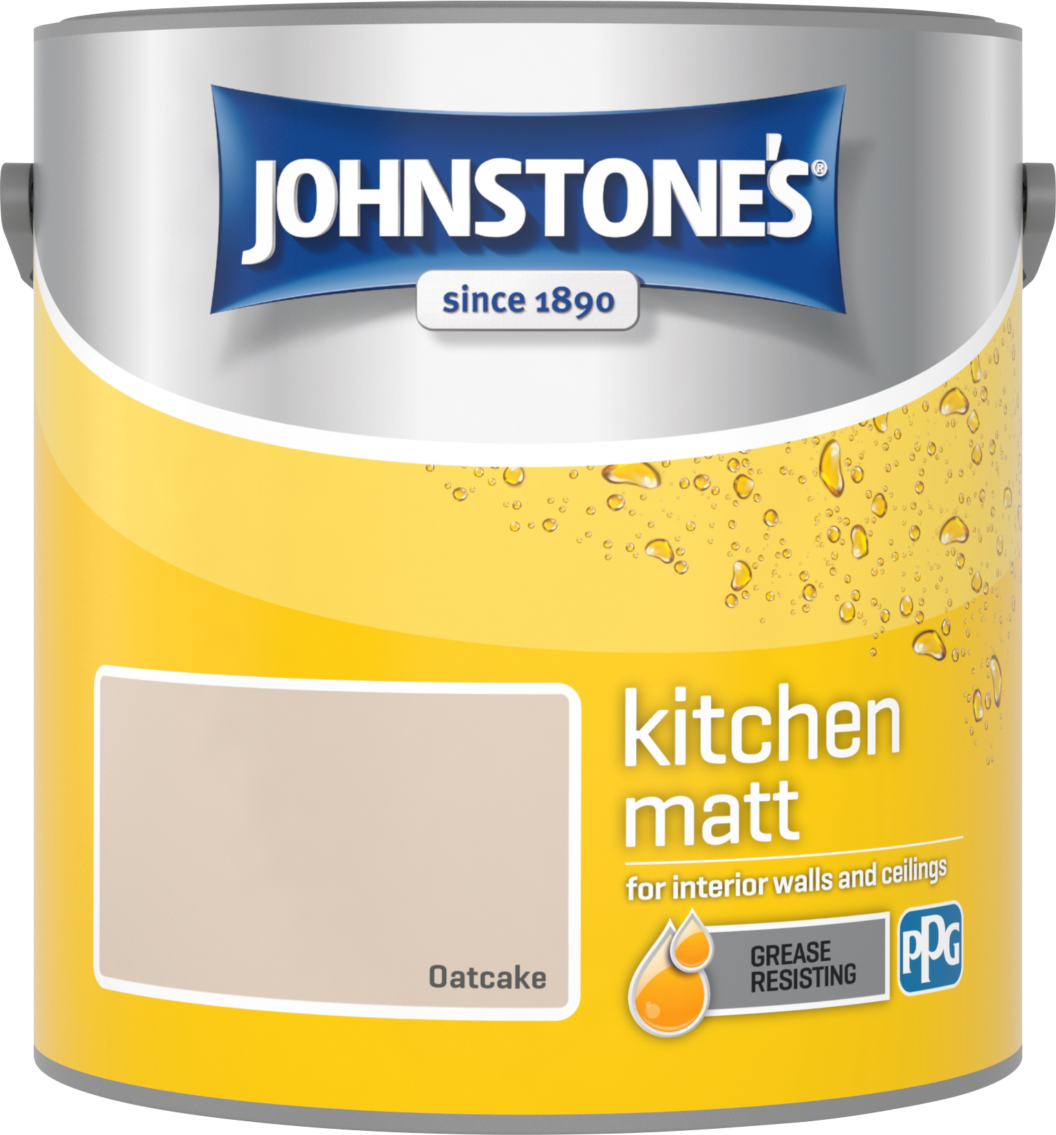Johnstone's 2.5 Litre Kitchen Paint - Oatcake