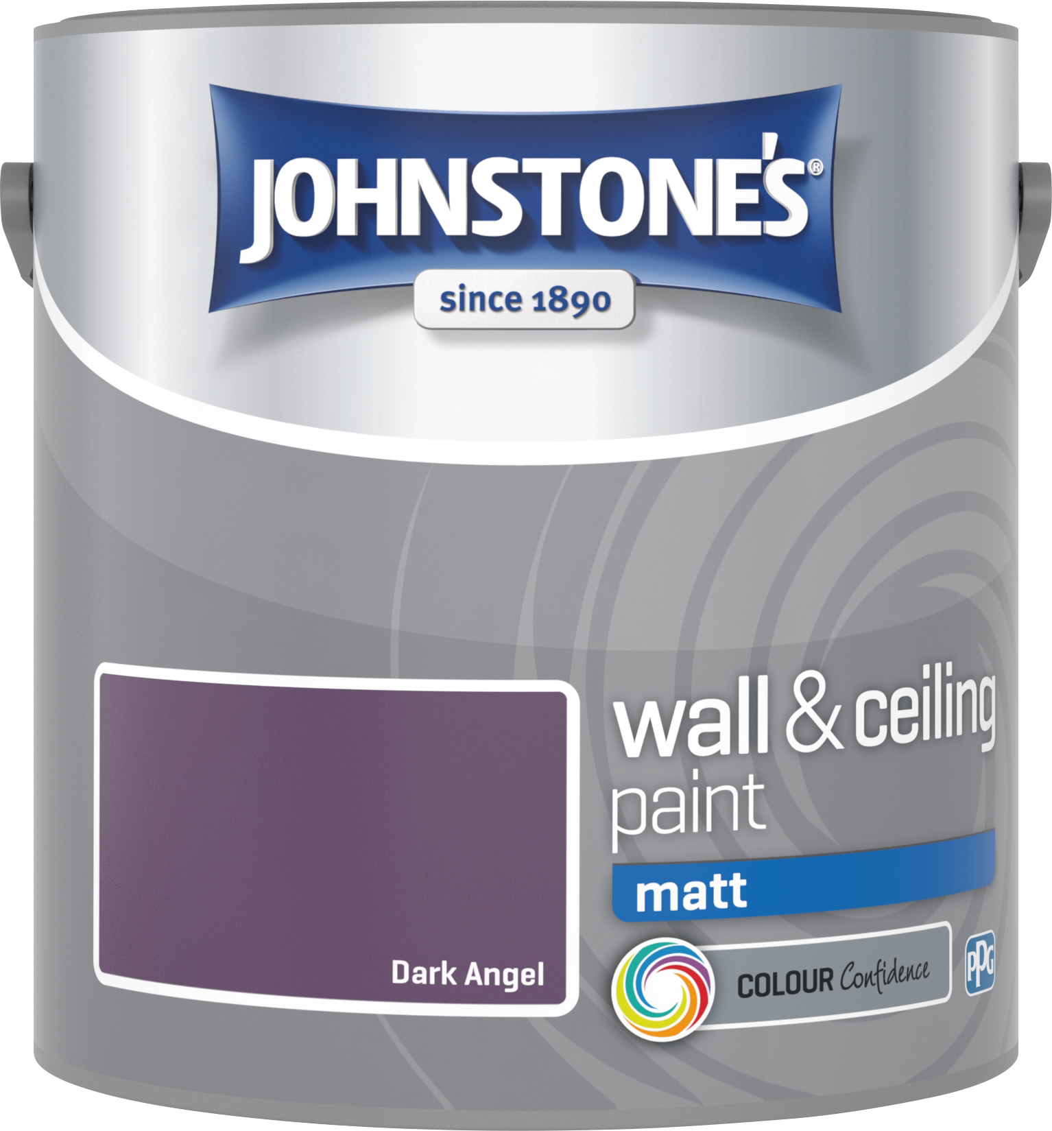 Johnstone's 2.5 Litre Matt Emulsion Paint - Dark Angel