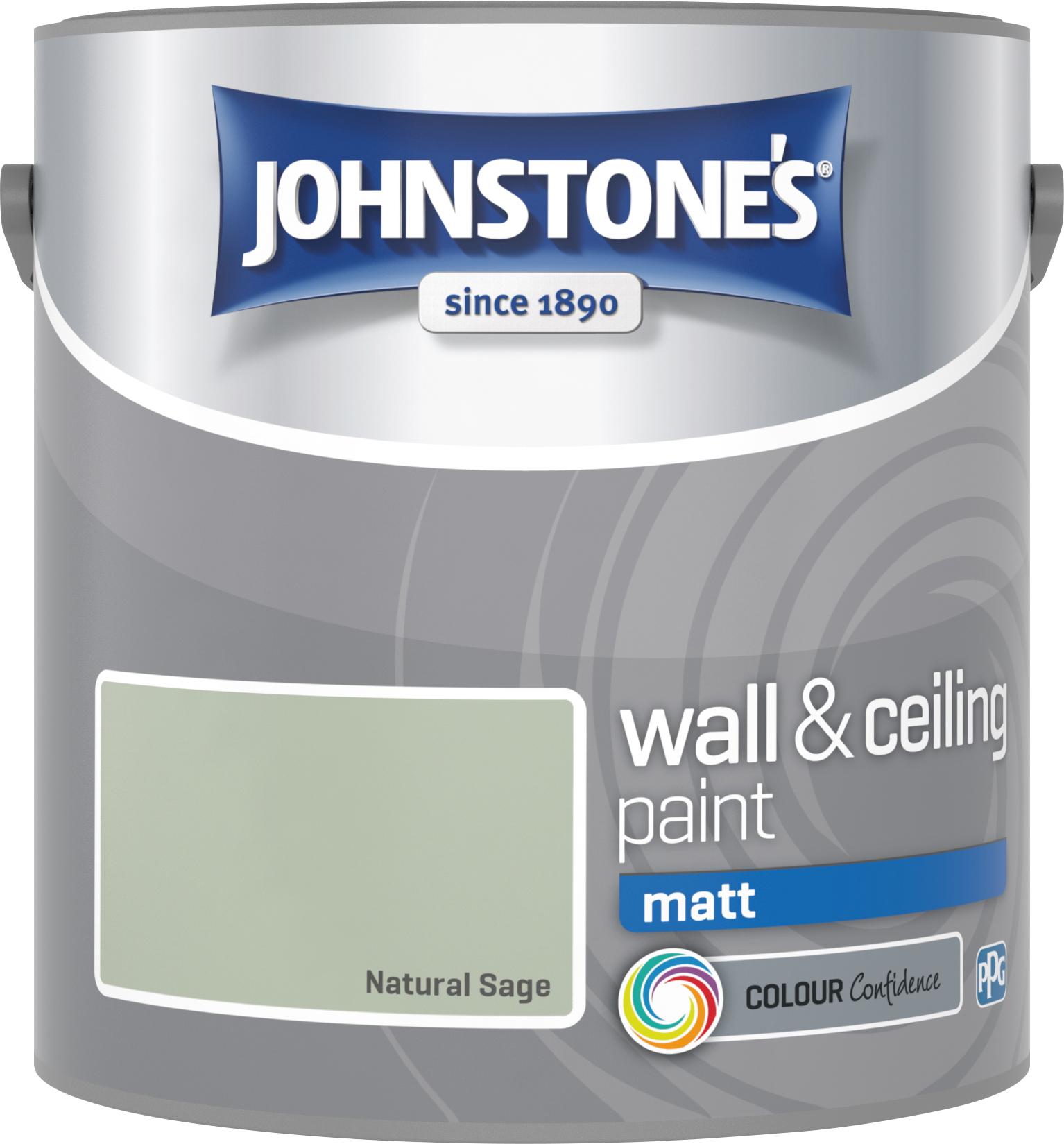 Johnstone's 2.5 Litre Matt Emulsion Paint - Natural Sage
