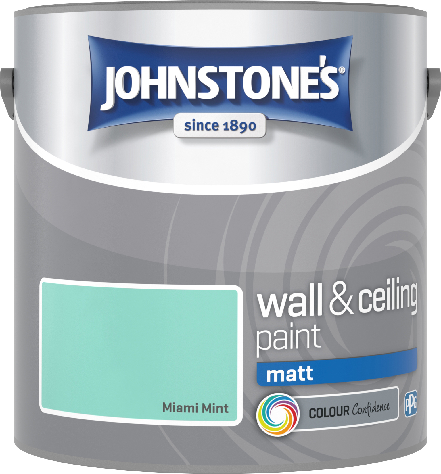 Johnstone's 2.5 Litre Matt Emulsion Paint - Miami Mint