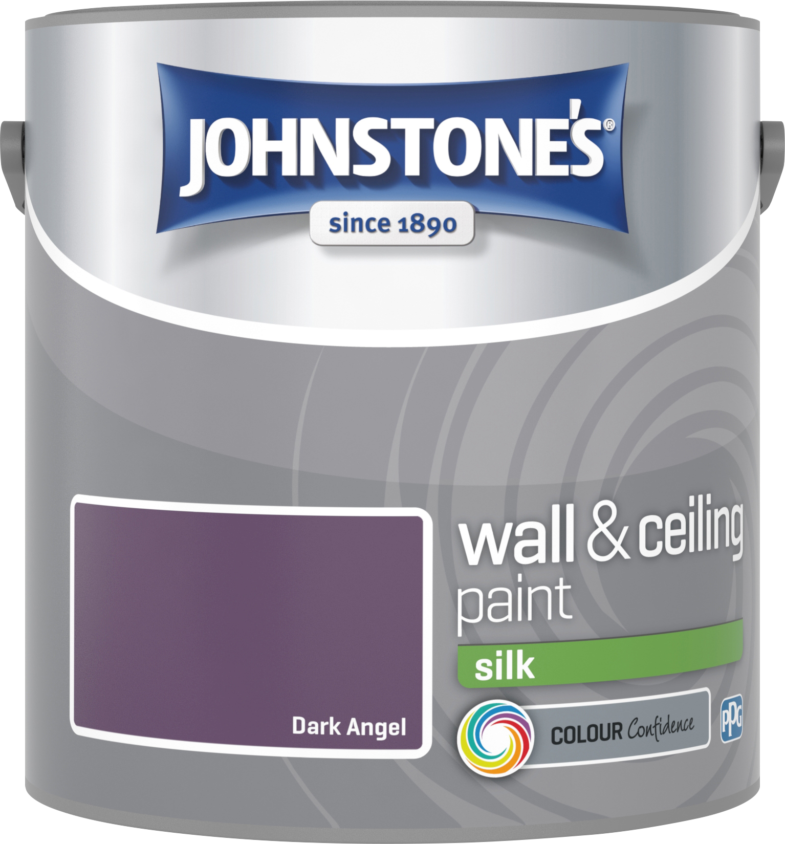 Johnstone's 2.5 Litre Silk Emulsion Paint - Dark Angel